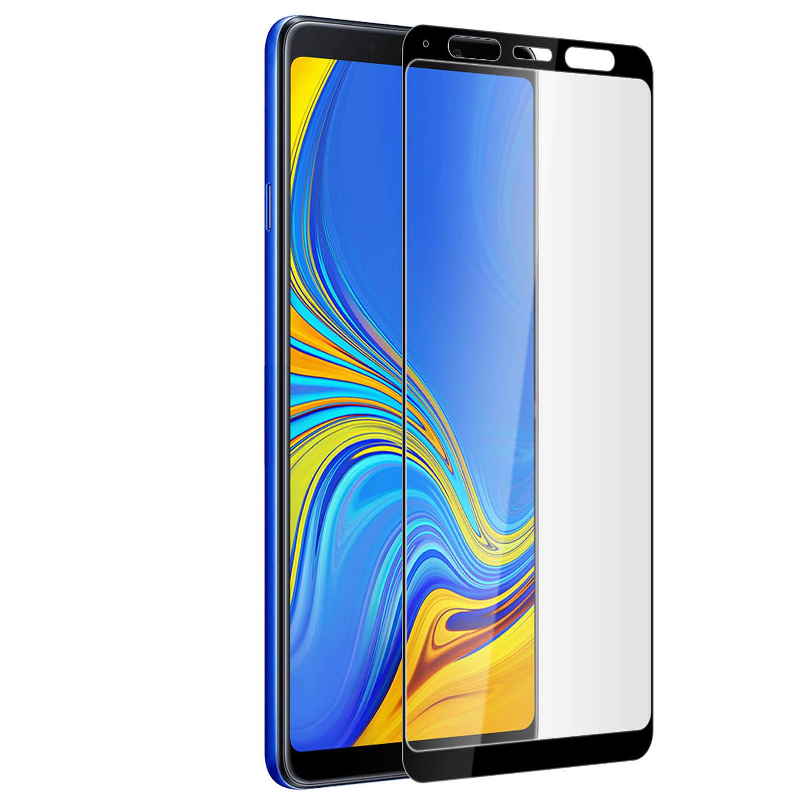 Avizar Film verre trempé Noir pour Samsung Galaxy A9 2018