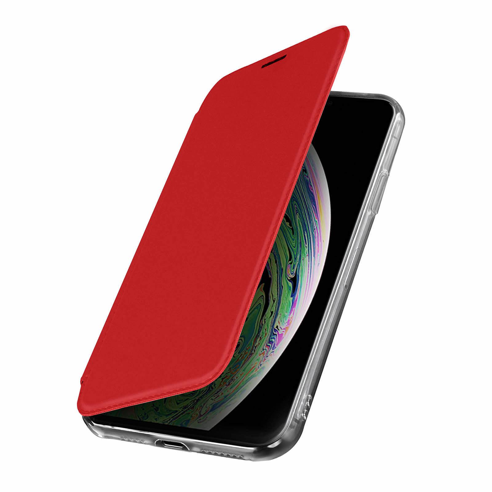 Avizar Etui folio Rouge Miroir pour Apple iPhone XS Max