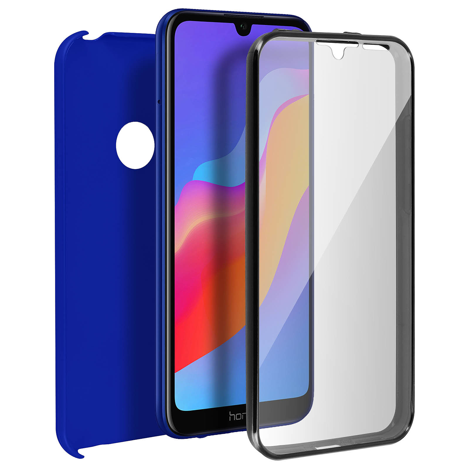 Avizar Coque Bleu pour Honor 8A , Huawei Y6 2019 , Huawei Y6S