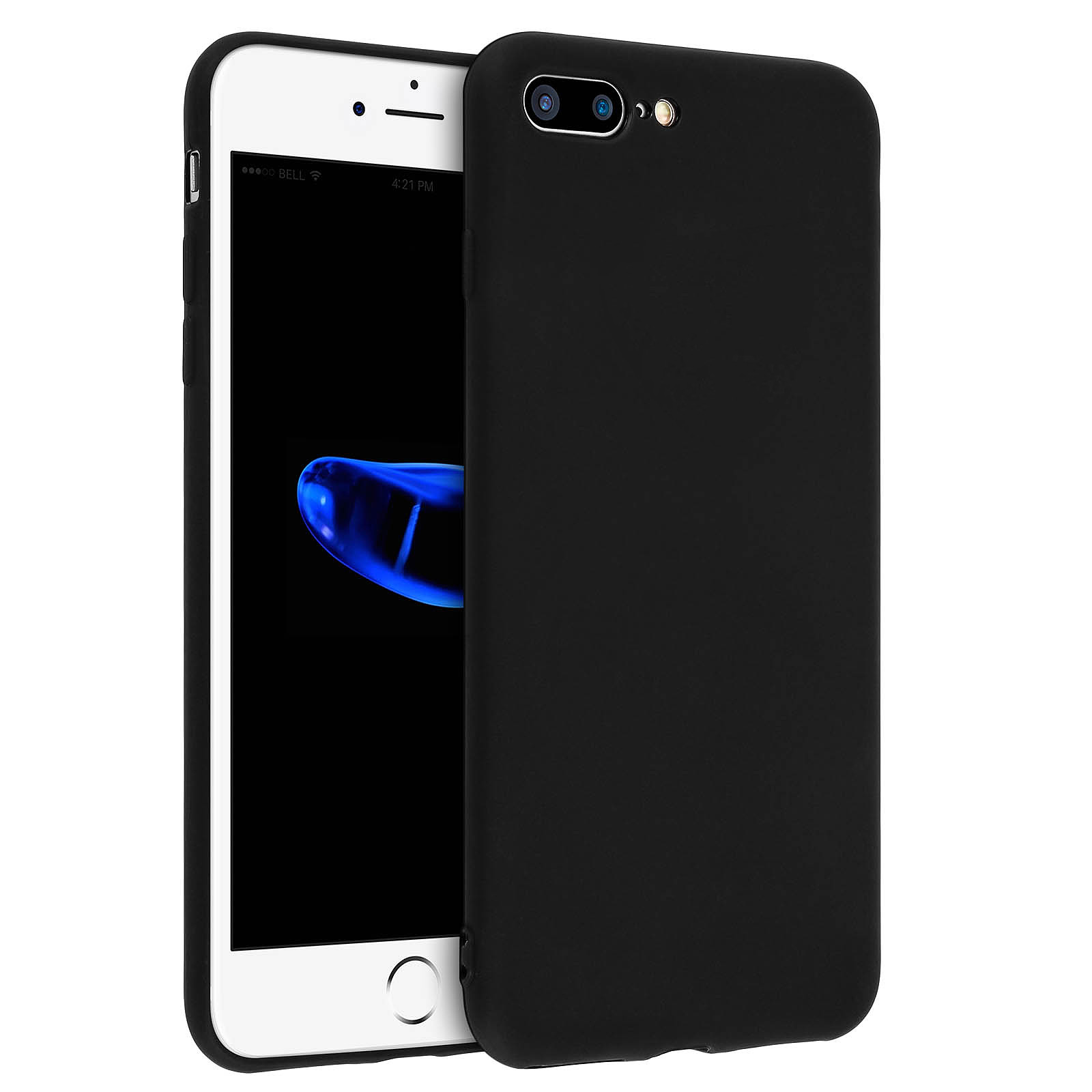 Avizar Coque Noir pour Apple iPhone 7 Plus , Apple iPhone 8 Plus
