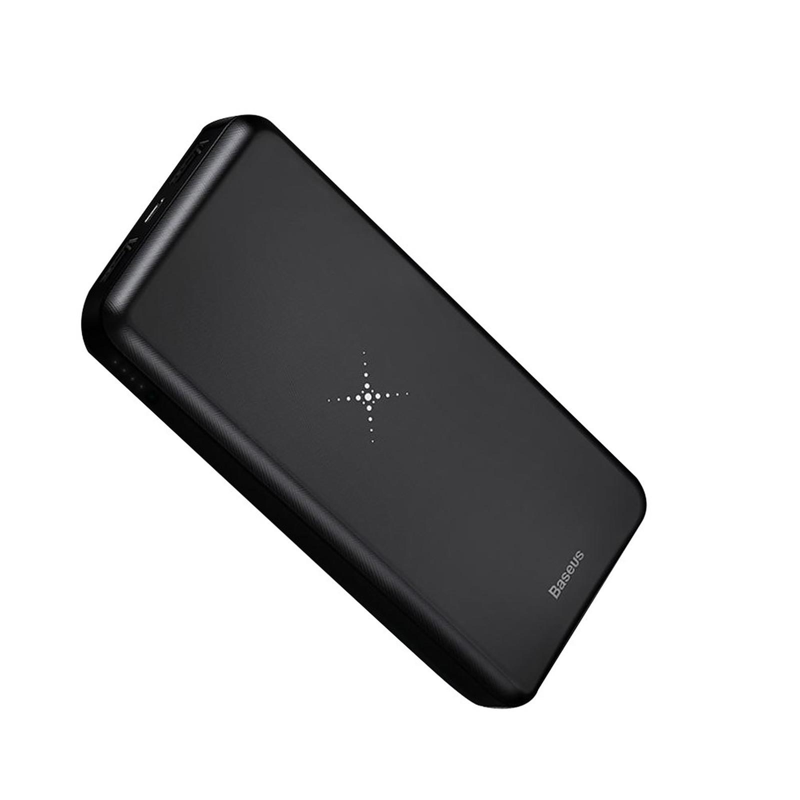 Baseus Batterie externe Chargeur sans fil Qi 10000 mAh Double USB Baseus Noir