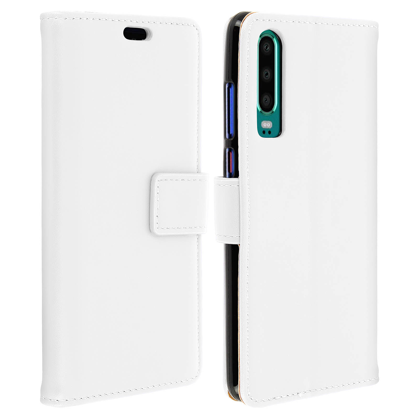 Avizar Etui folio Blanc pour Huawei P30