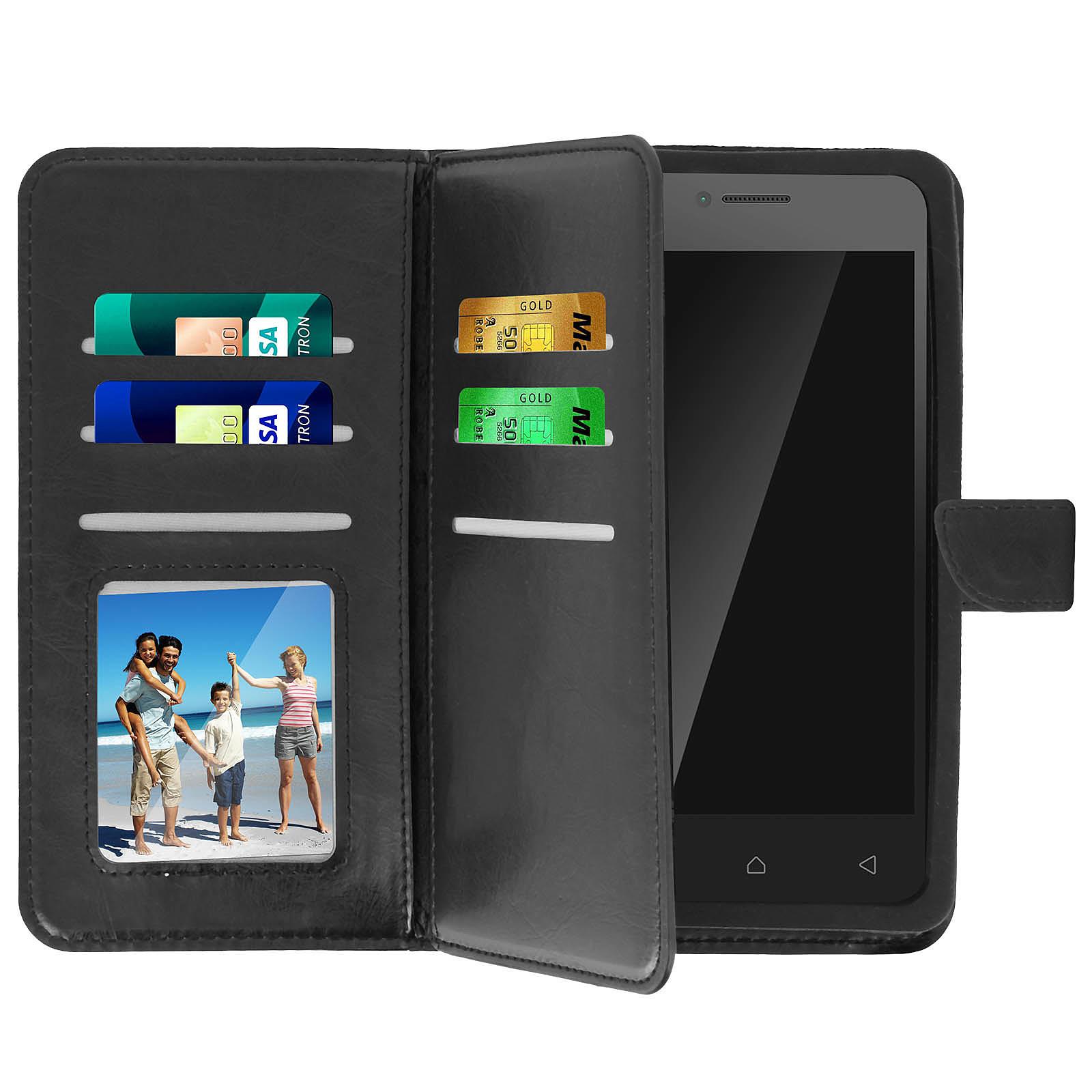 Avizar Etui folio Noir pour Smartphones de 5.0' à 5.3'