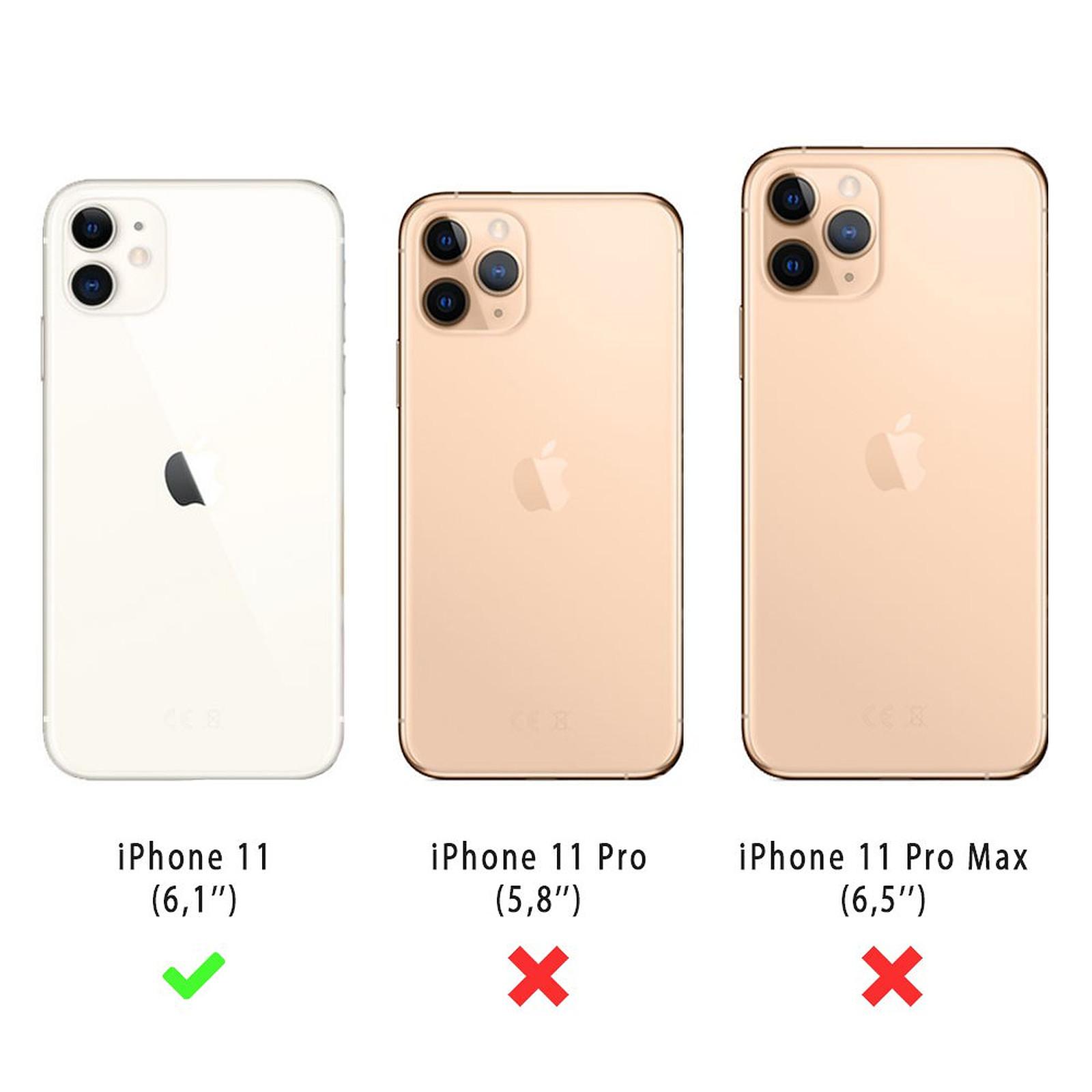 EVETANE Coque iPhone 11 souple transparente Pissenlit blanc