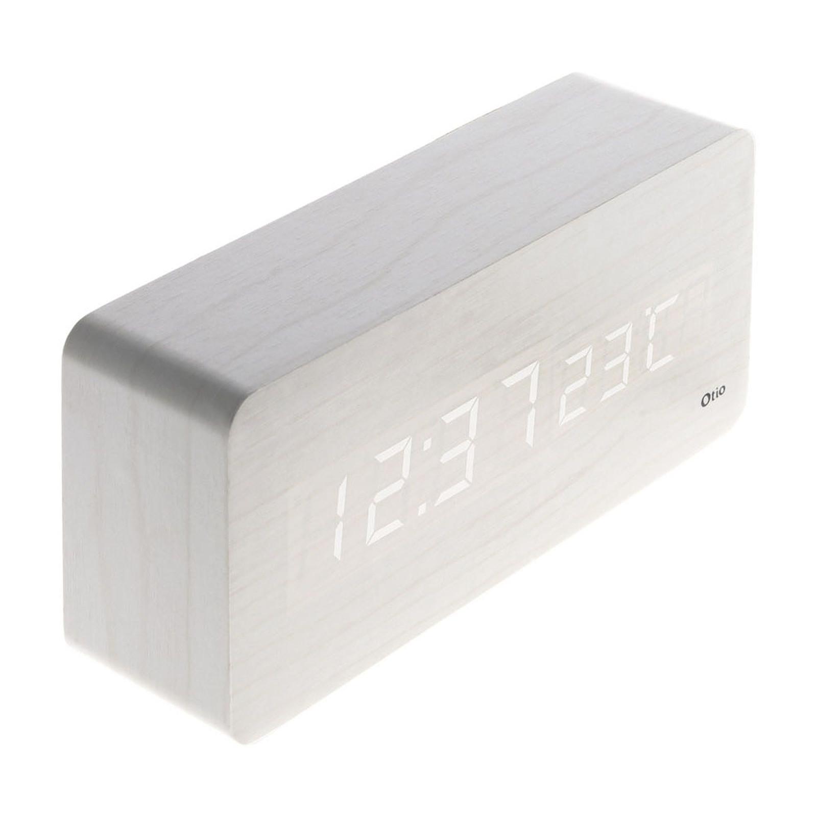 Otio Thermomètre lingot finition effet bois blanc cérusé