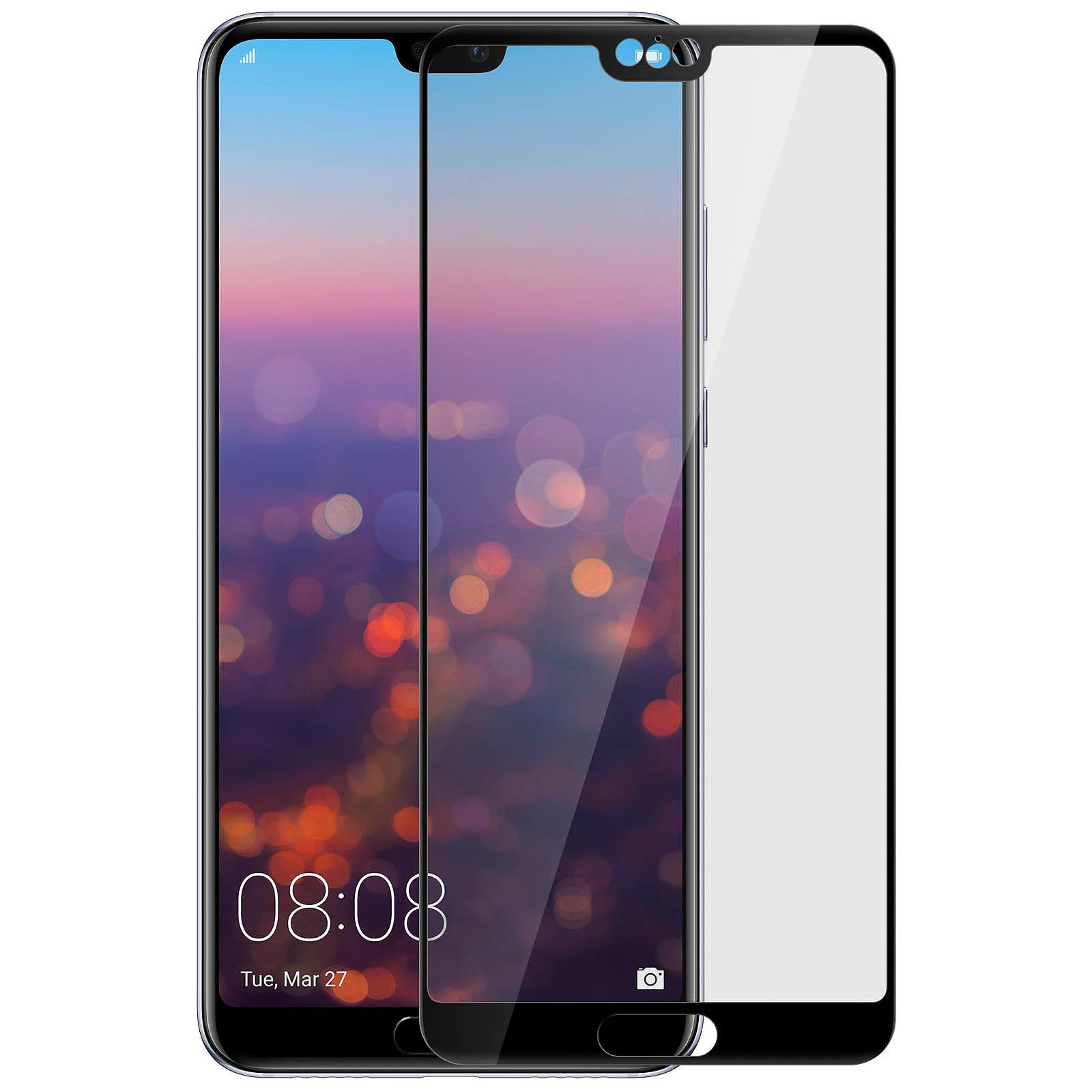 Avizar Film verre trempé Noir pour Huawei P20