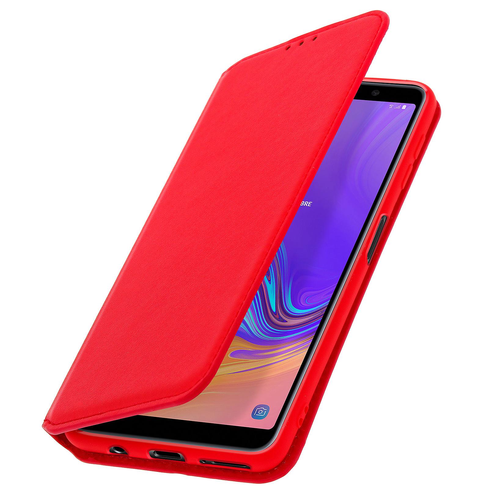 Avizar Etui folio Rouge pour Samsung Galaxy A7 2018