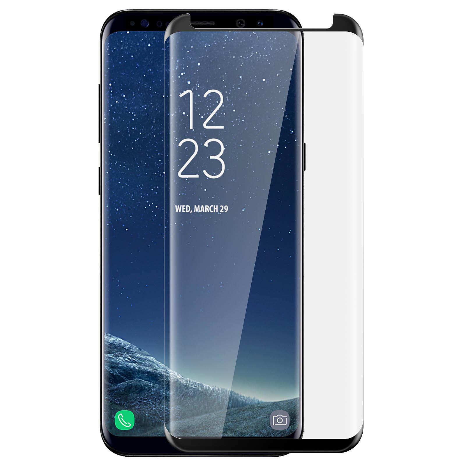 Avizar Film verre trempé Noir pour Samsung Galaxy S8