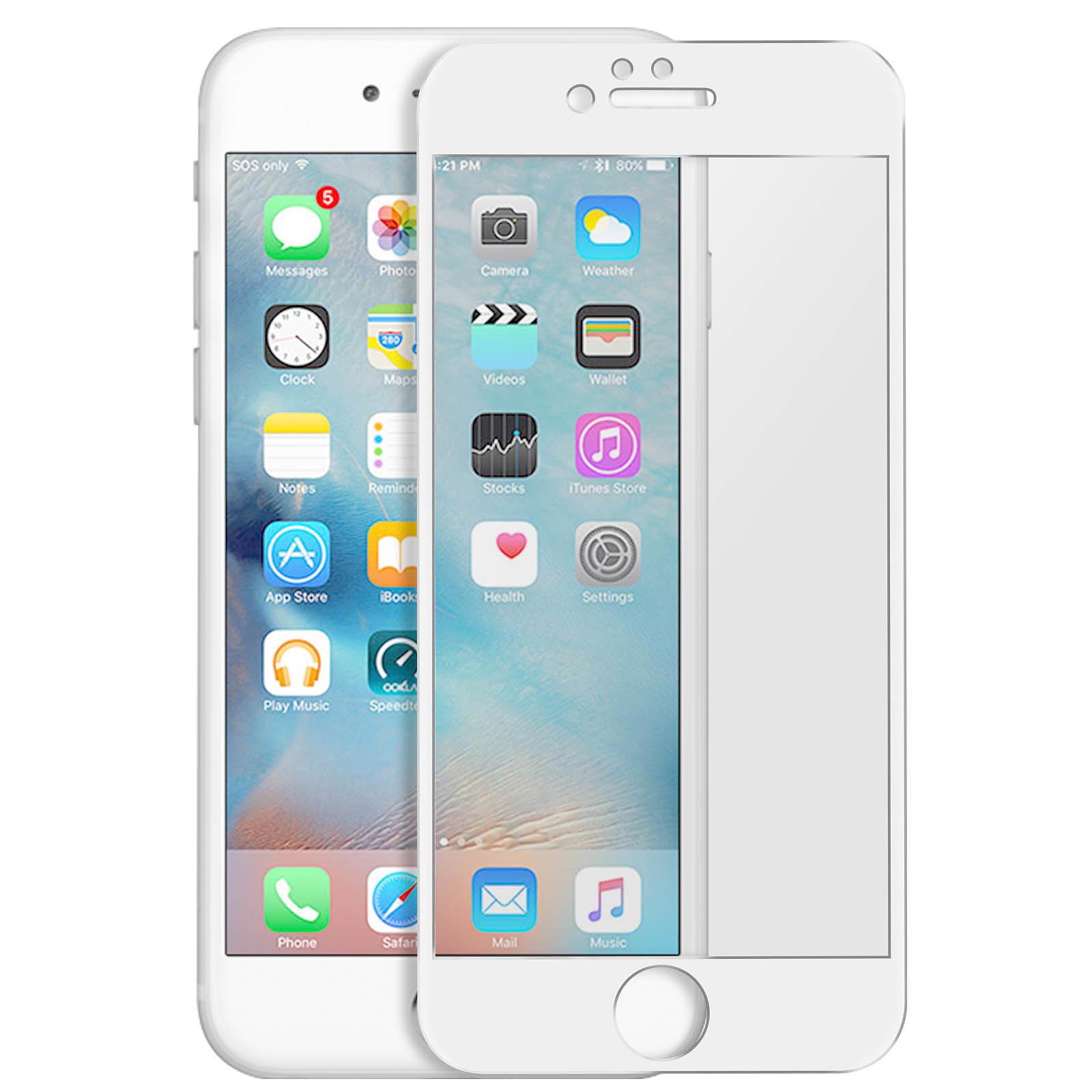 Avizar Film verre trempé Blanc pour Apple iPhone 6 , Apple iPhone 6S