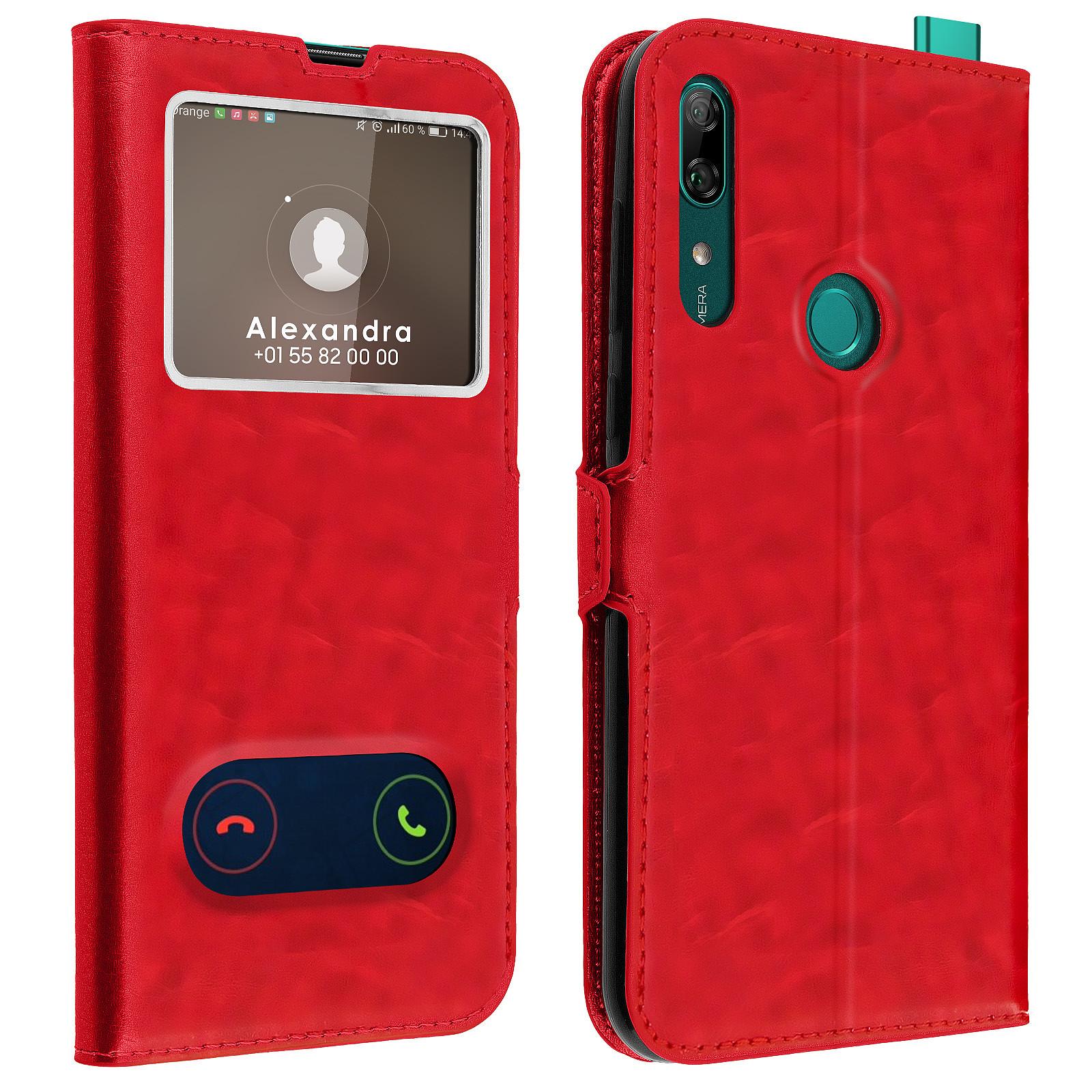 Avizar Etui folio Rouge pour Huawei P Smart Z , Honor 9X