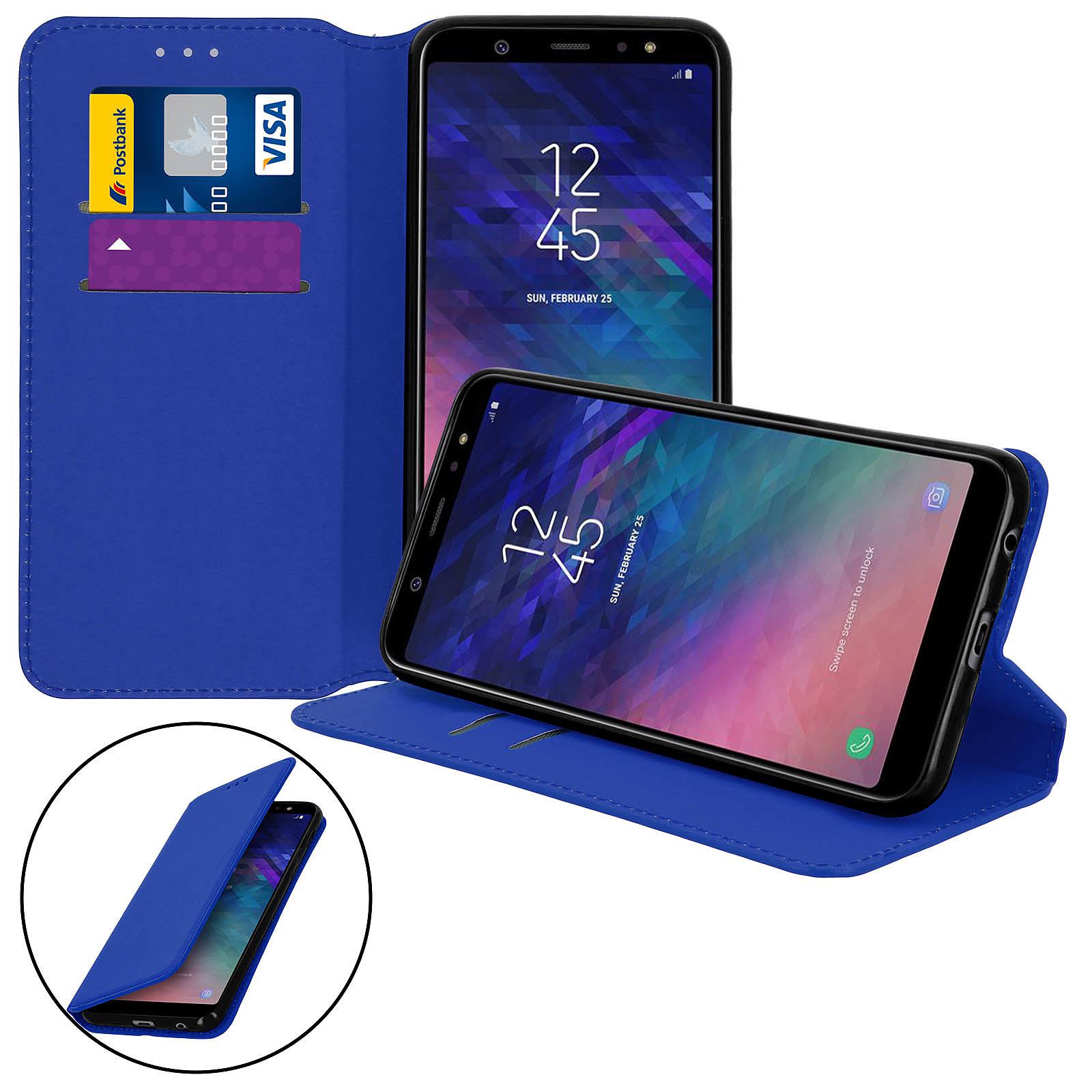 Avizar Etui folio Bleu Nuit pour Samsung Galaxy A6 Plus