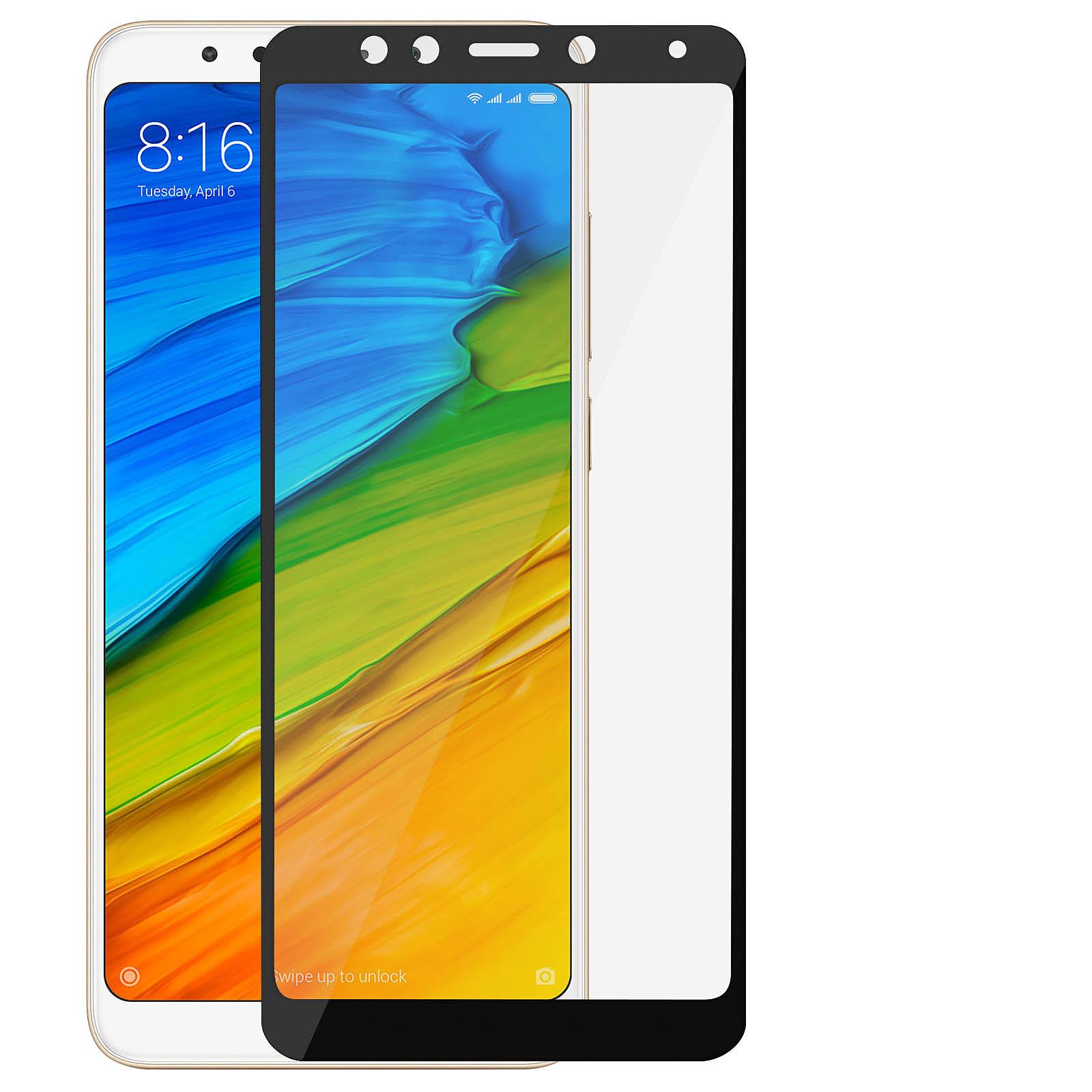 Avizar Film verre trempé Noir pour Xiaomi Redmi 5