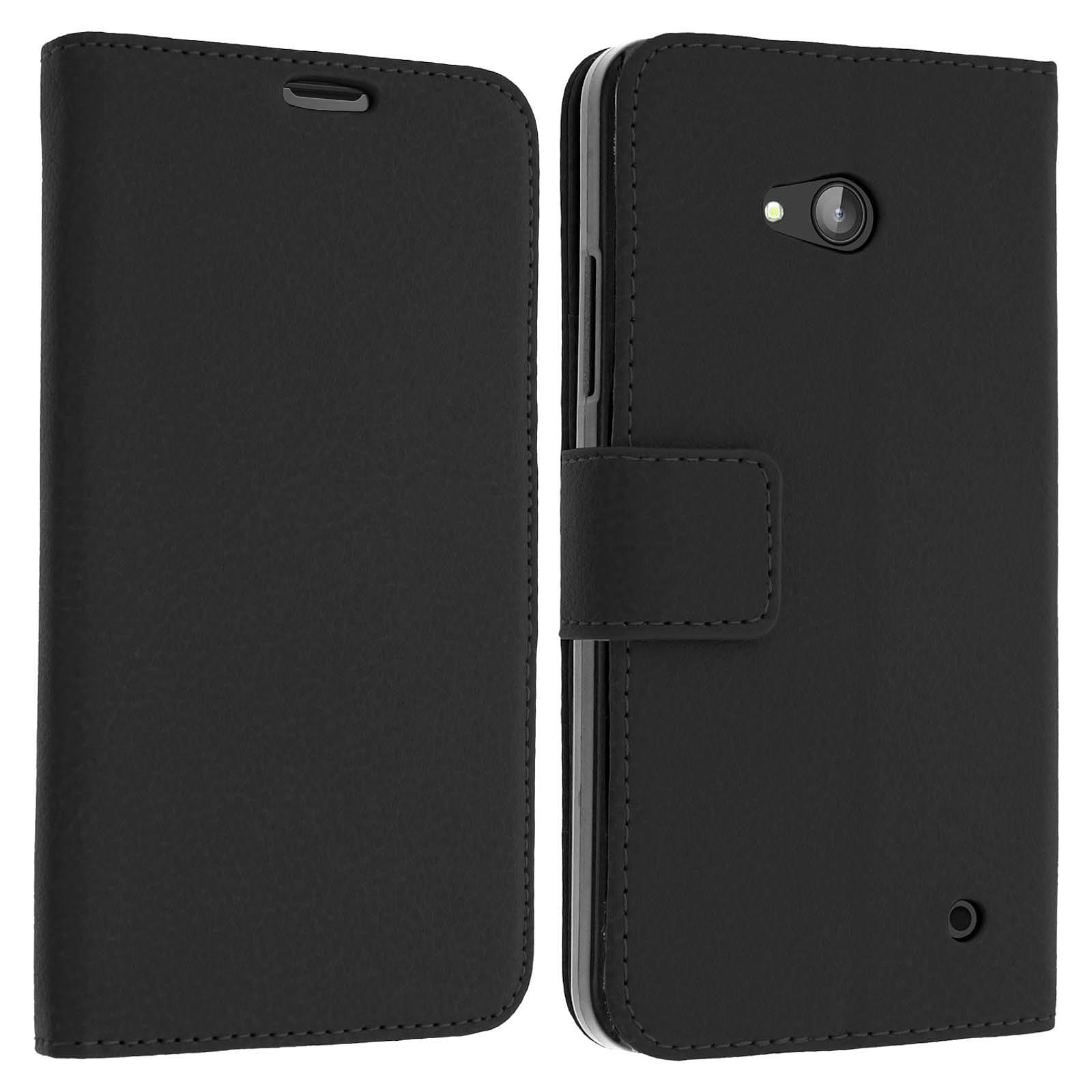 Avizar Etui folio Noir pour Nokia Lumia 640 , Microsoft Lumia 640
