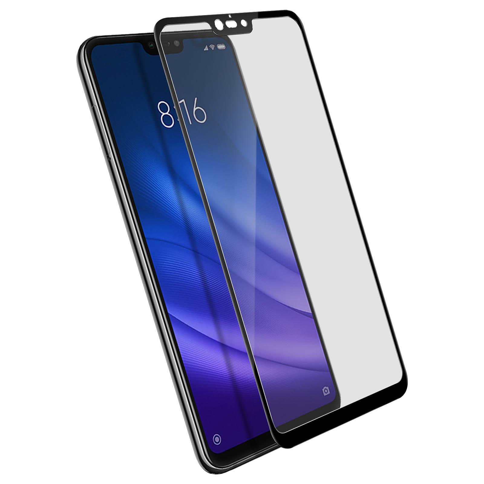 Avizar Film verre trempé Noir pour Xiaomi Mi 8 Lite