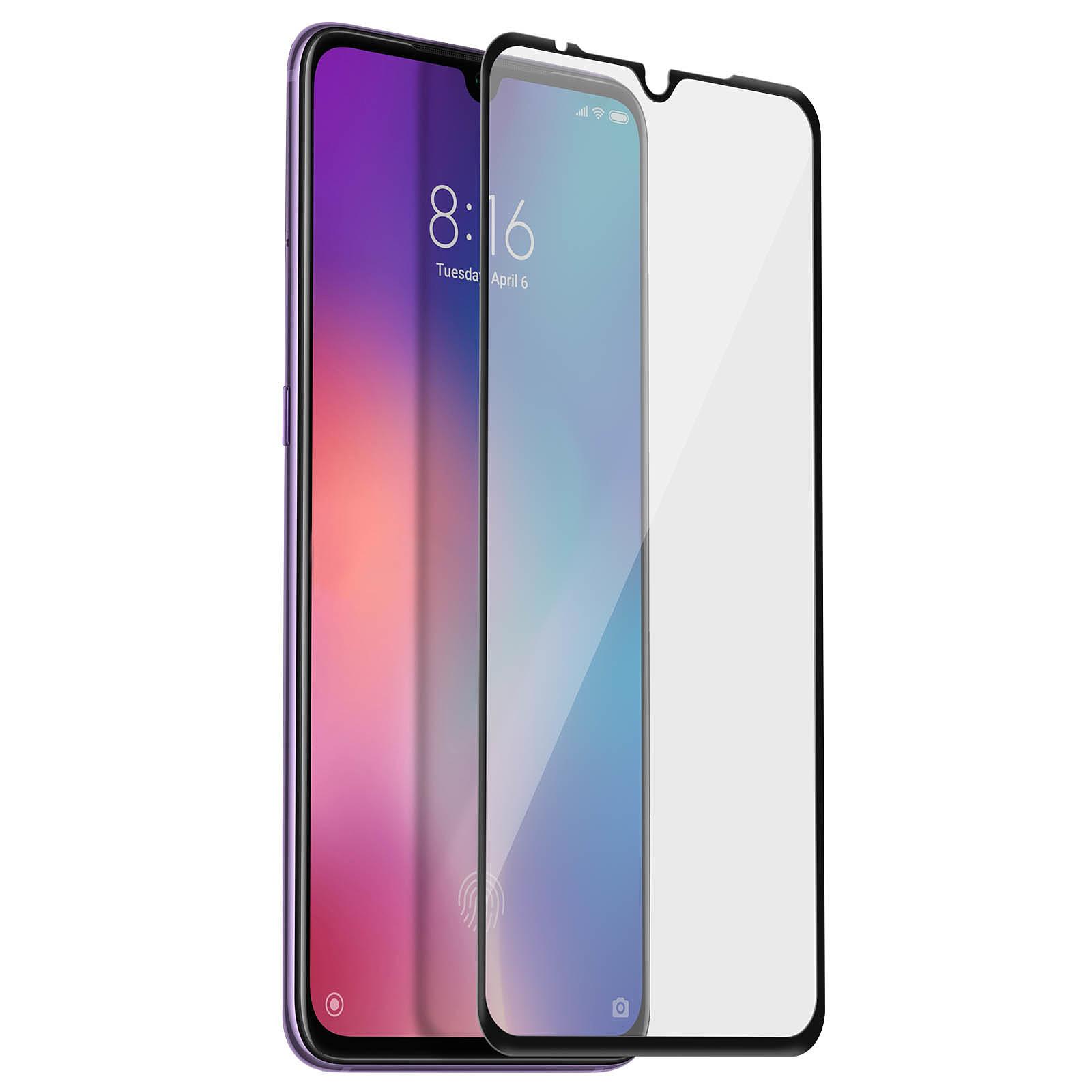 Avizar Film verre trempé Noir pour Xiaomi Mi 9