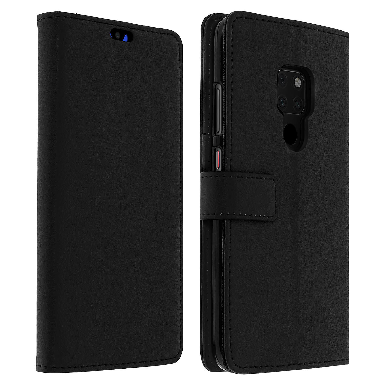Avizar Etui folio Noir Rangement Carte pour Huawei Mate 20