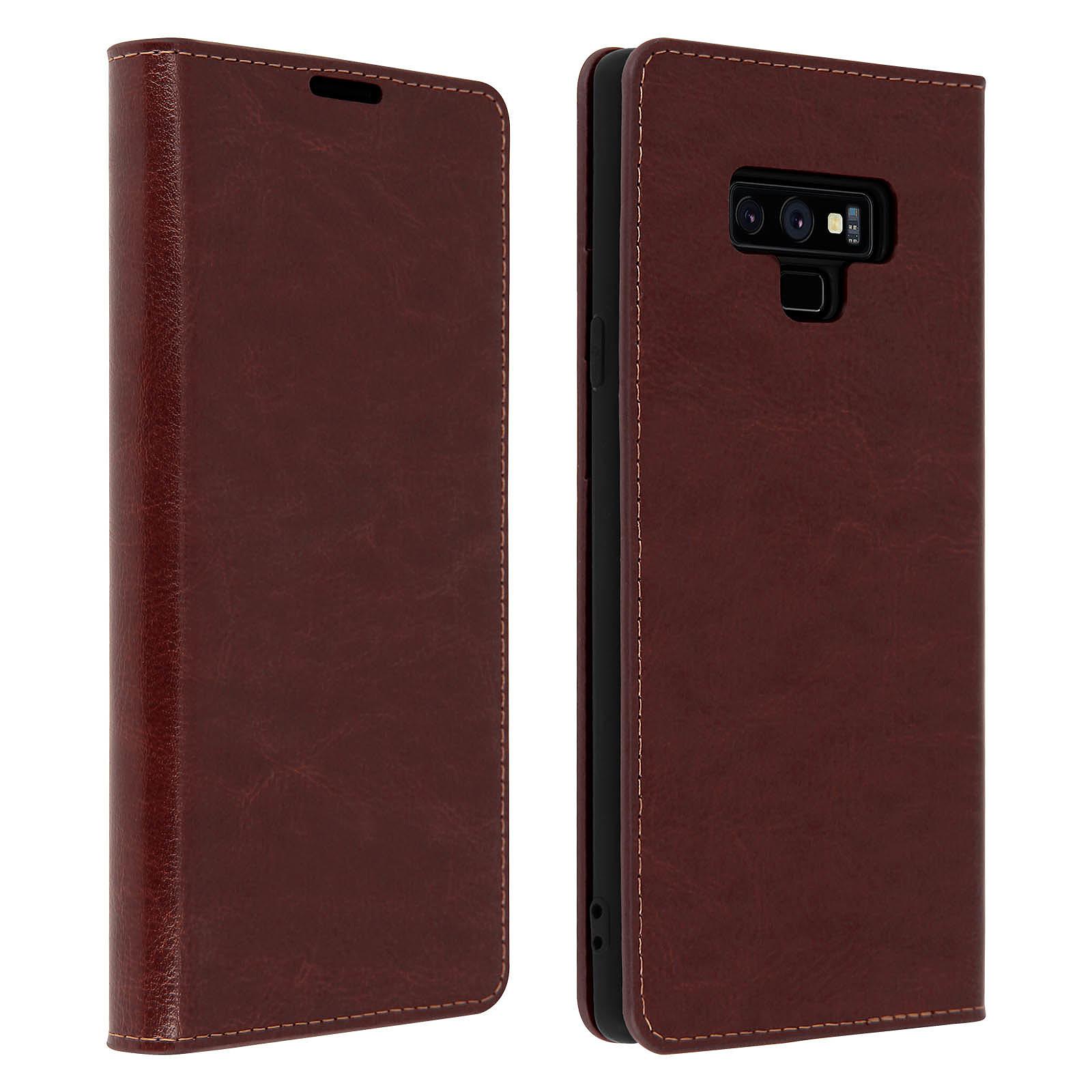 Avizar Etui folio Marron pour Samsung Galaxy Note 9