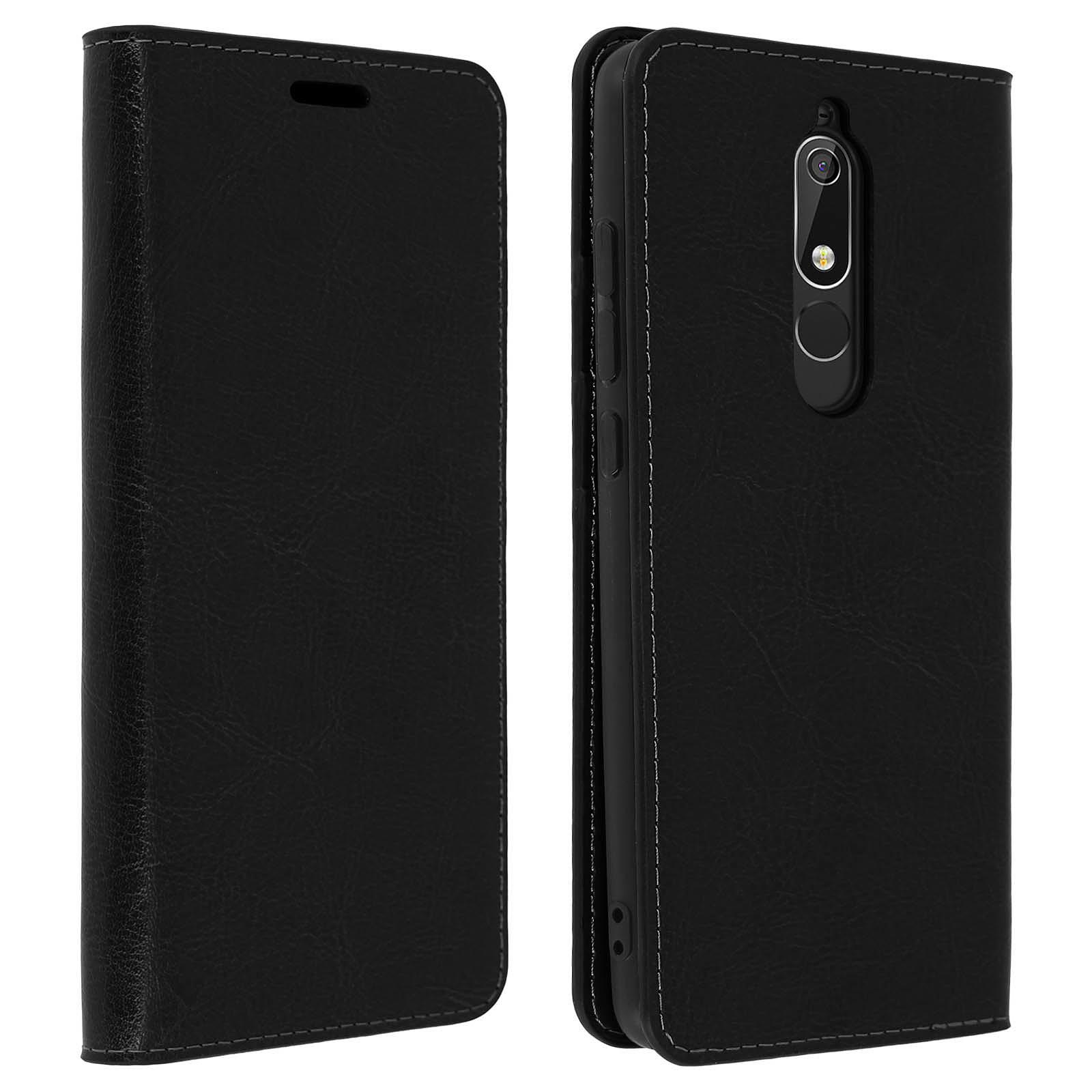 Avizar Etui folio Noir pour Nokia 5.1