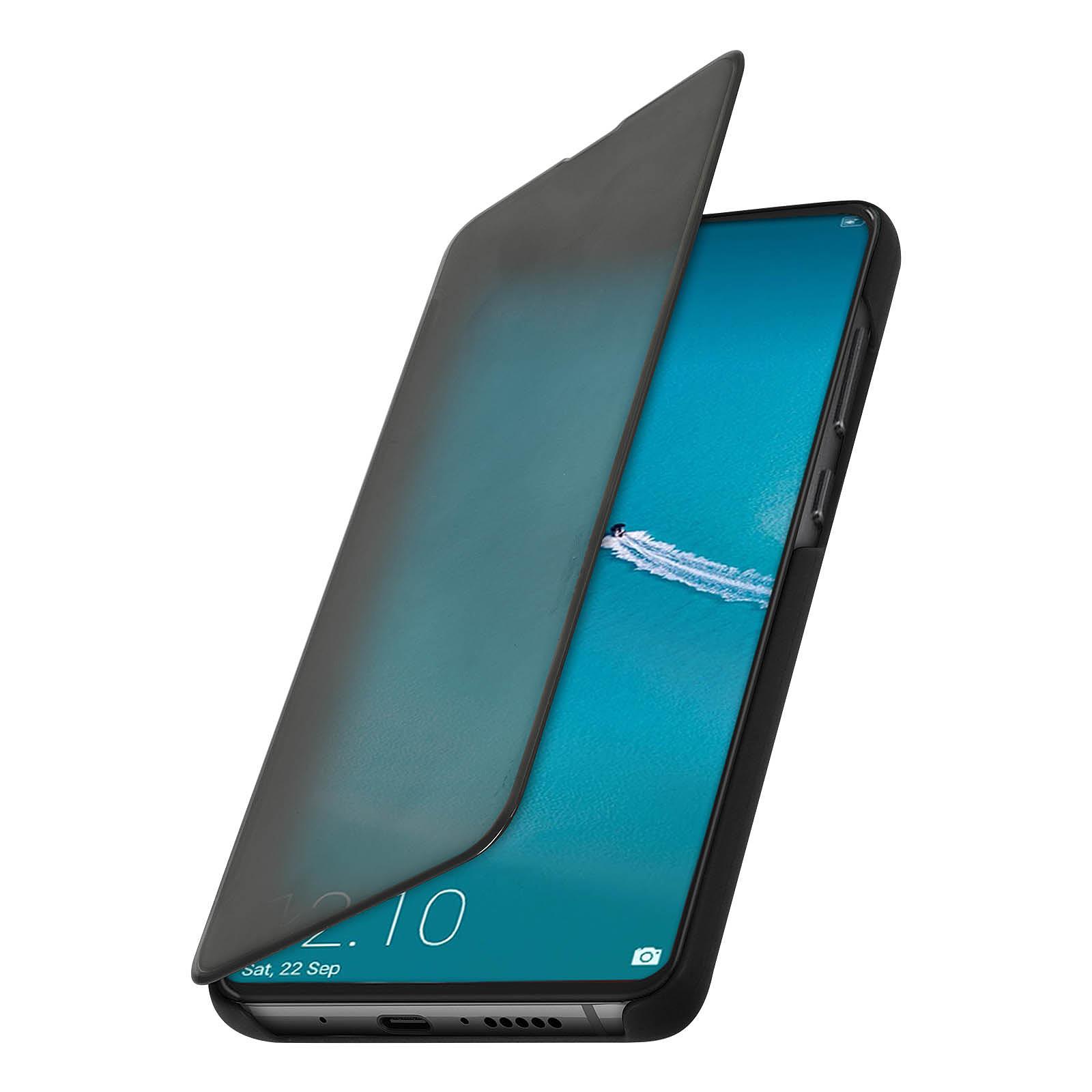 Avizar Etui folio Noir Design Miroir pour Huawei Mate 20