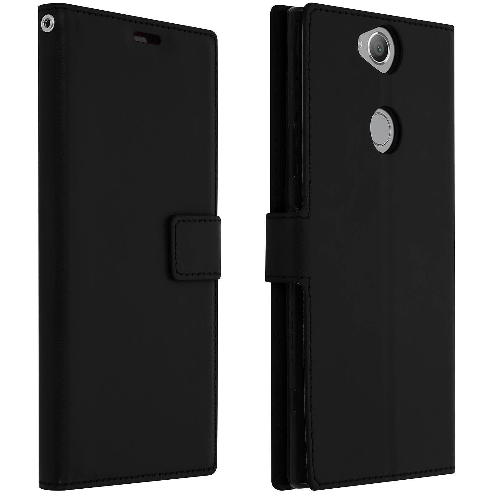 Avizar Etui folio Noir pour Sony Xperia XA2 Plus