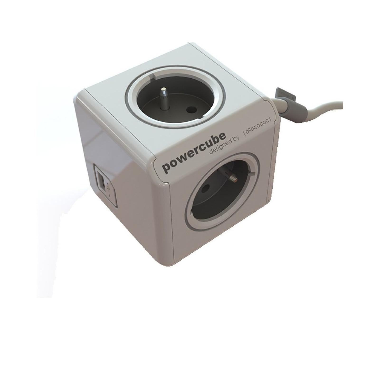 Chacon Powercube 3 Prises Et 1 Usb Avec Station De Fixation 48041