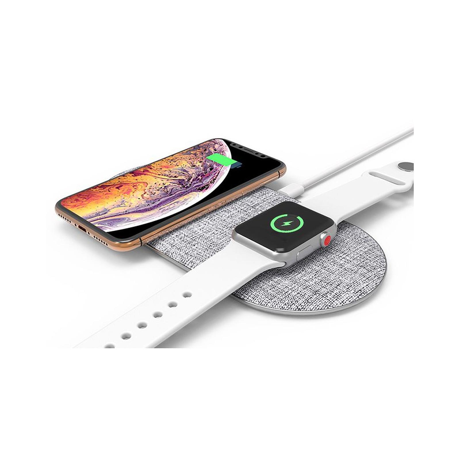 Cellys Socle de charge induction IPhone 8 / 9 / X/ Xr et iWatch Blanc