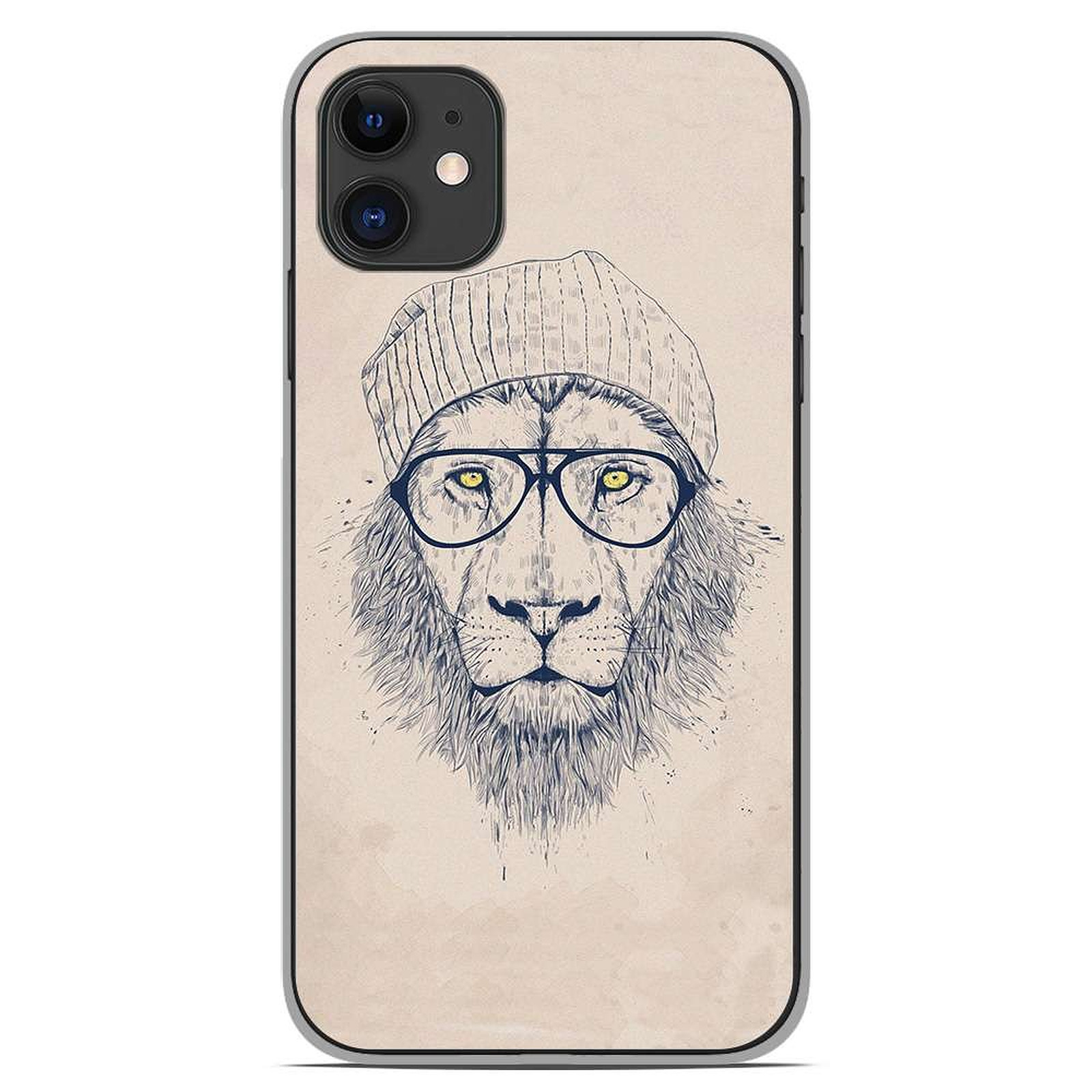 1001 Coques Coque silicone gel Apple iPhone 11 motif BS Cool Lion