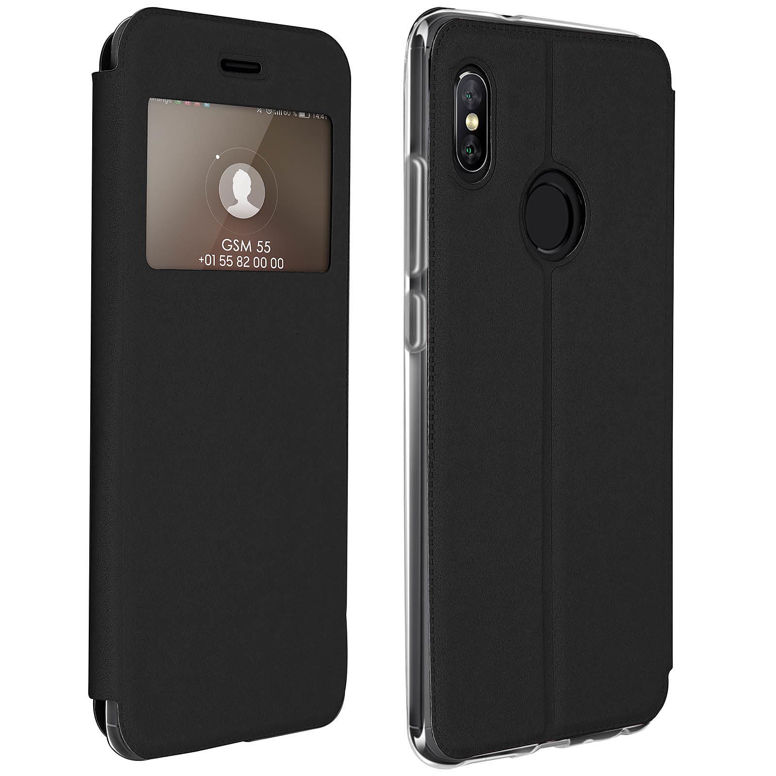 Avizar Etui folio Noir pour Xiaomi Redmi Note 5