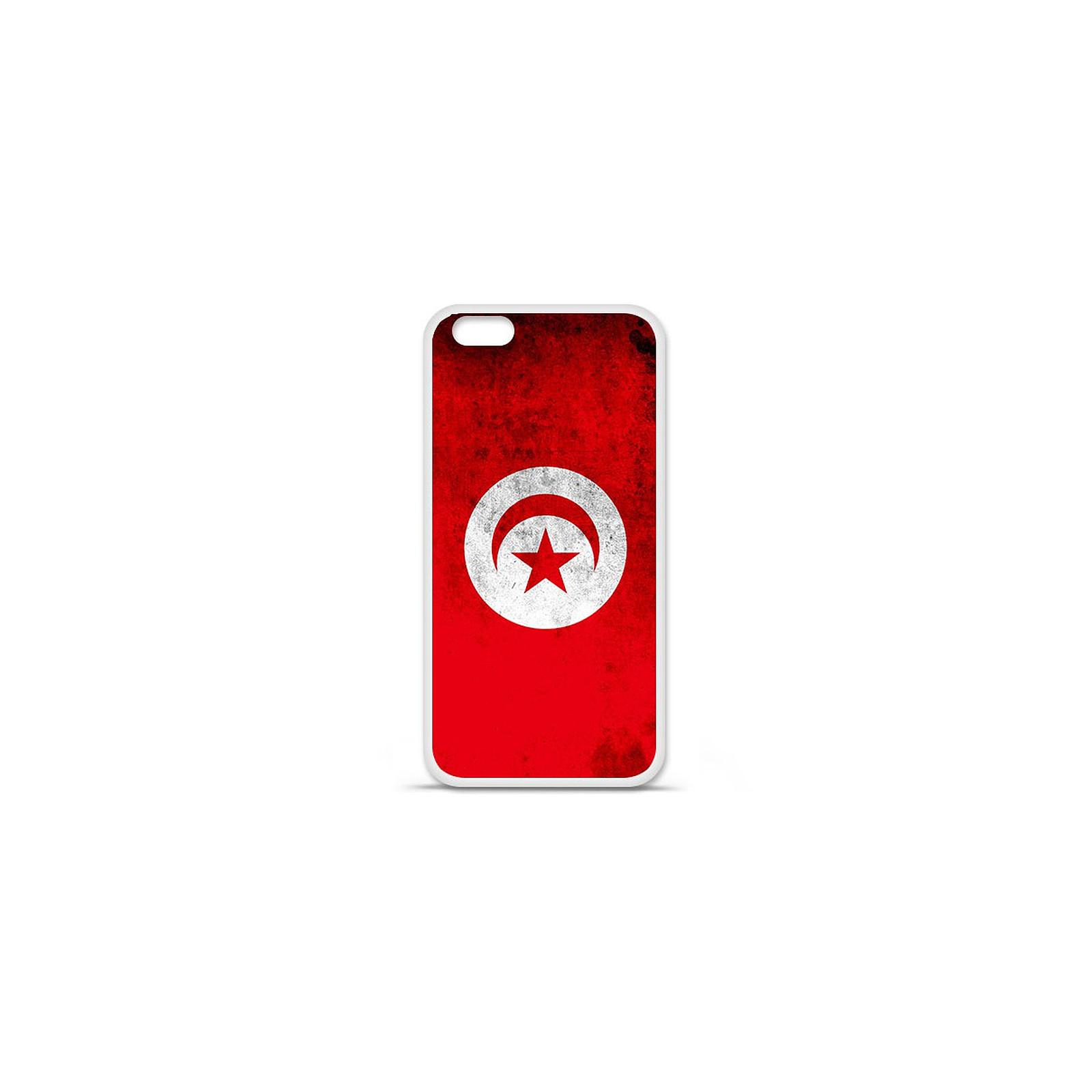 1001 Coques Coque silicone gel Apple IPhone 7 Plus motif Drapeau Tunisie
