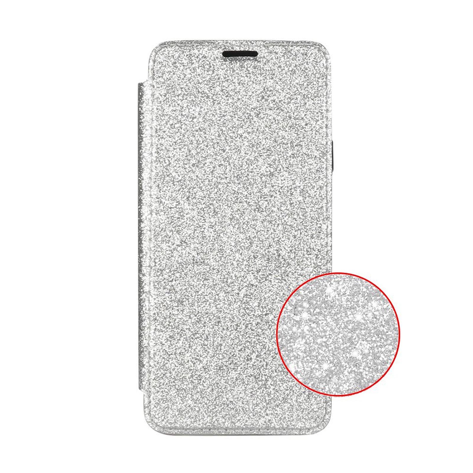 EVETANE Etui Samsung Galaxy S9 Plus de protection avec coque arrière en silicone et PAILLETTES Argent