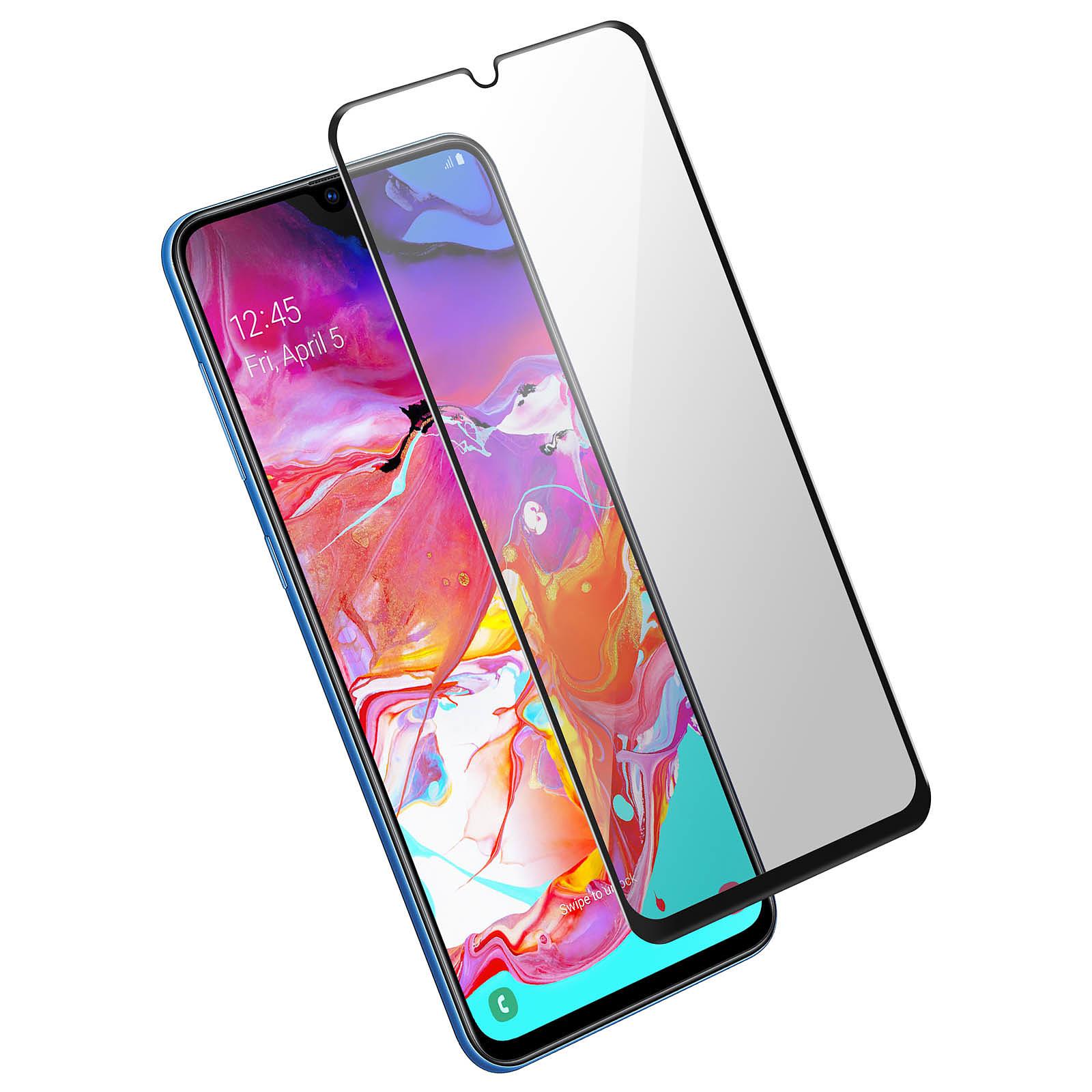 Avizar Film verre trempé Noir pour Samsung Galaxy A70