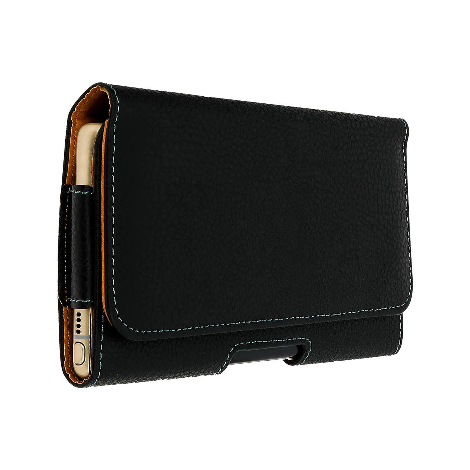 Avizar Etui ceinture Noir pour Smartphones : Longueur entre 172 x 100 x 18 mm