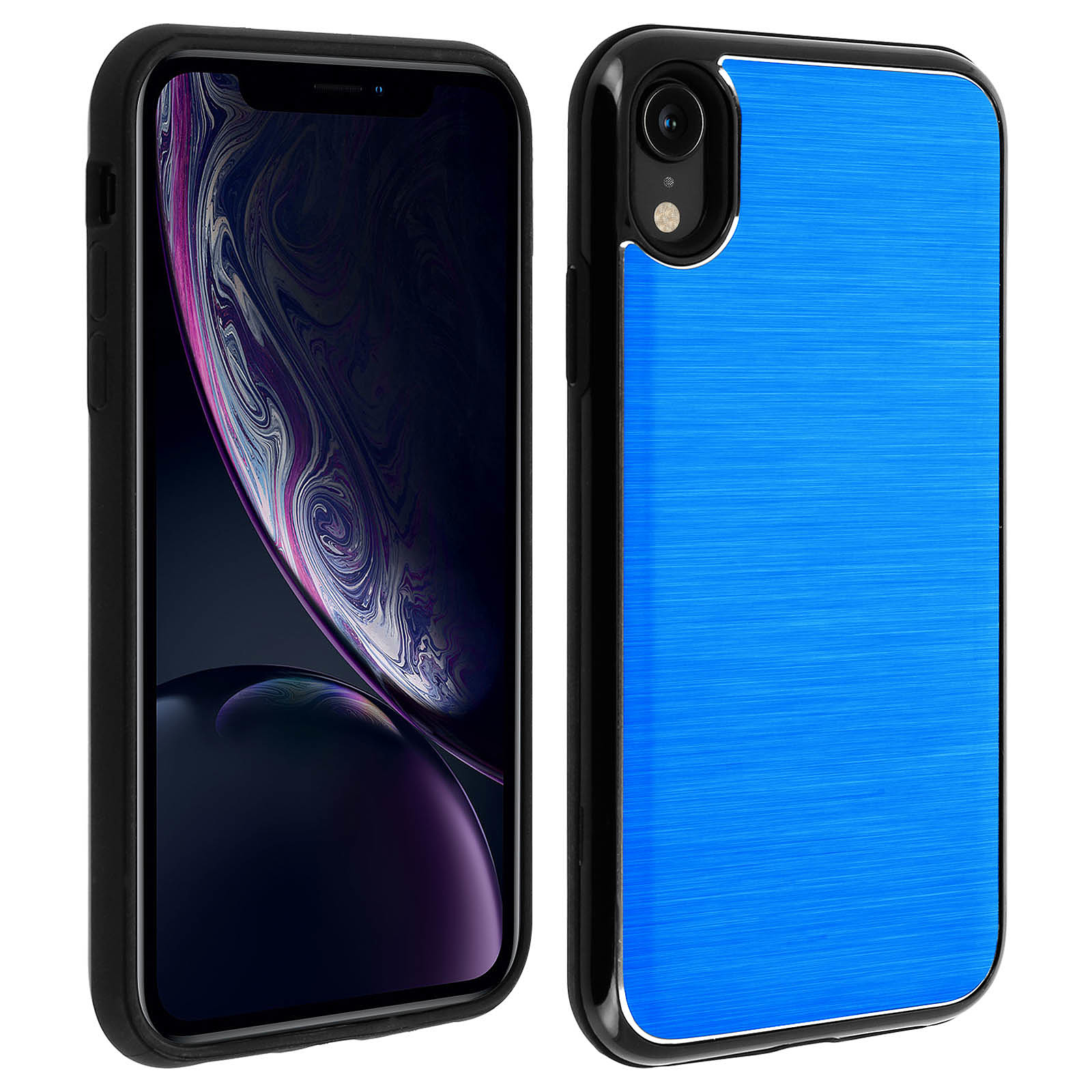 Avizar Coque Bleu Hybride pour Apple iPhone XR