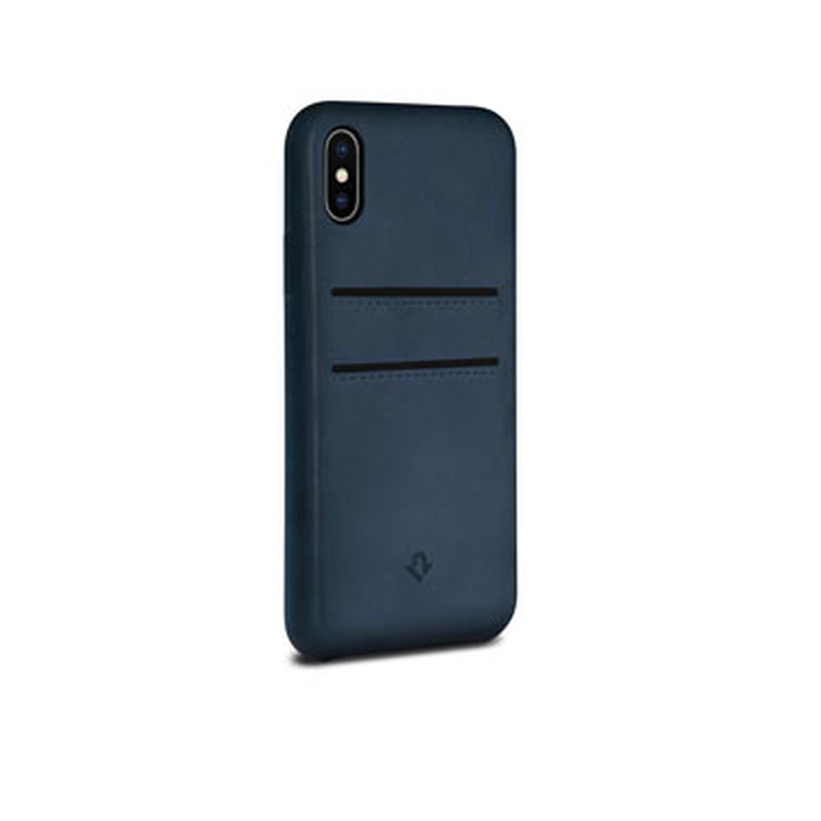 TWELVE SOUTH Relax Leather coque cuir avec porte carte pour iPhone X Indigo