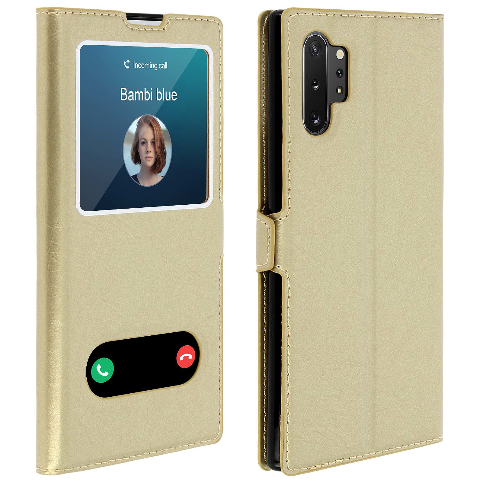 Avizar Etui folio Dorée pour Samsung Galaxy Note 10 Plus