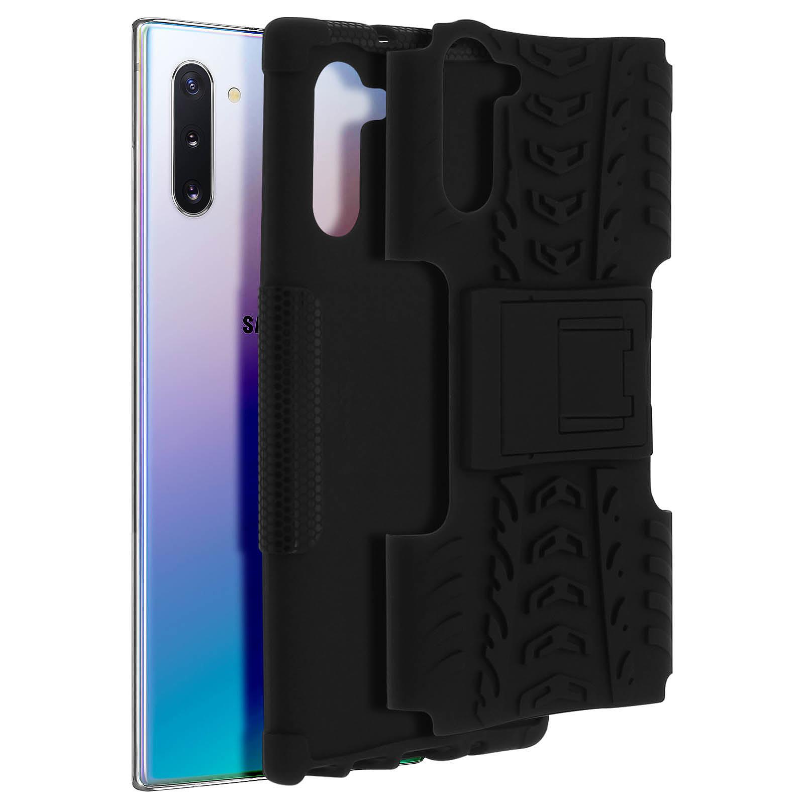 Avizar Coque Noir Bi-matières pour Samsung Galaxy Note 10