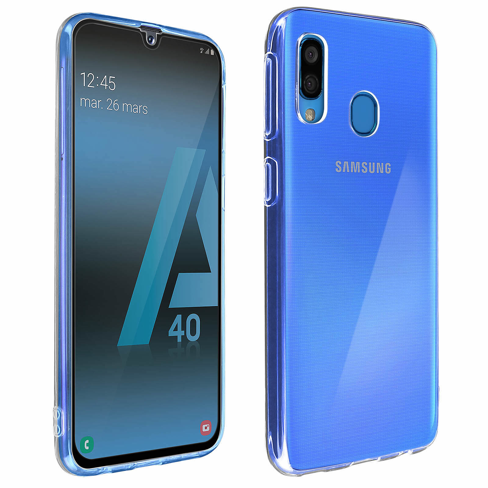 Avizar Pack protection Noir pour Samsung Galaxy A40