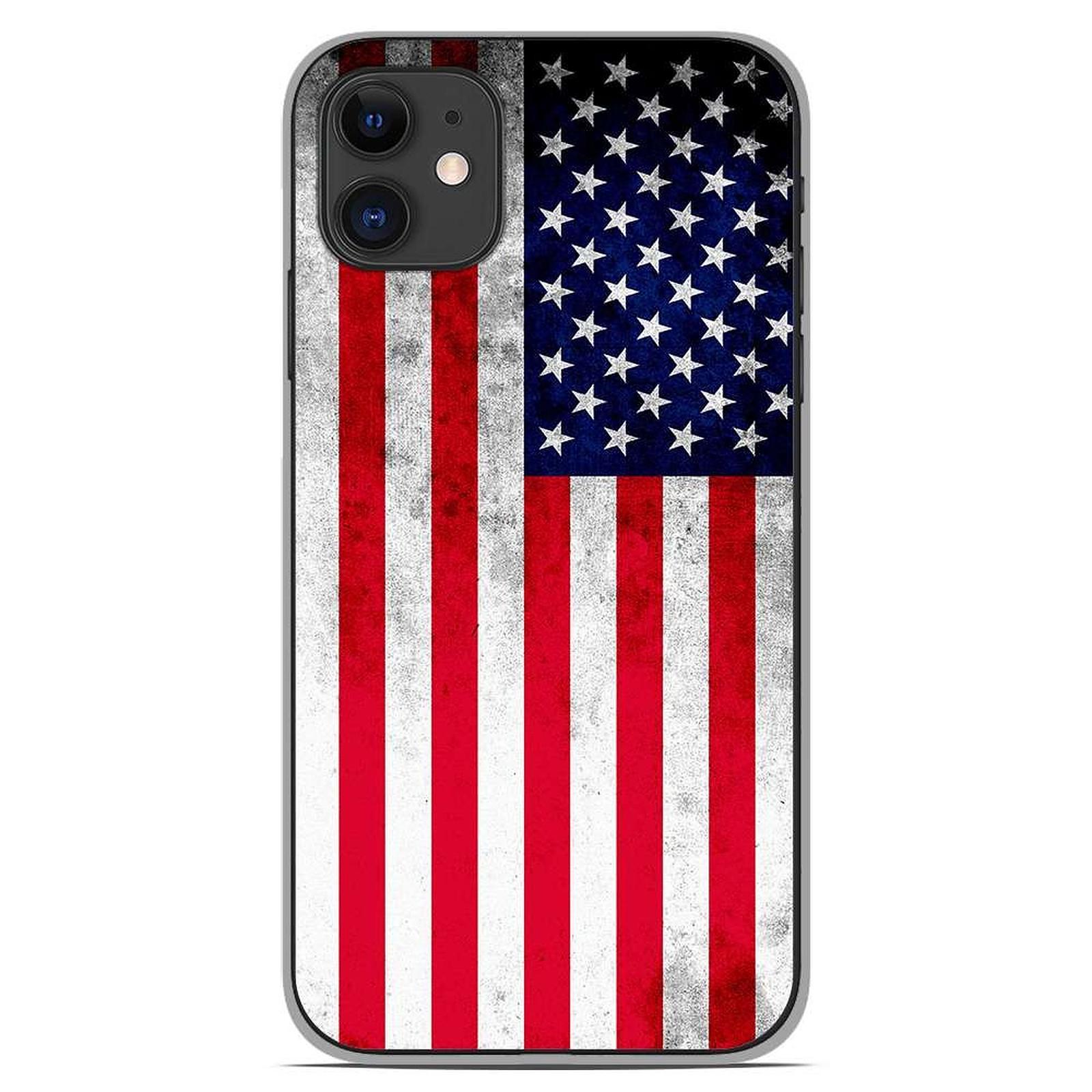 1001 Coques Coque silicone gel Apple iPhone 11 motif Drapeau USA