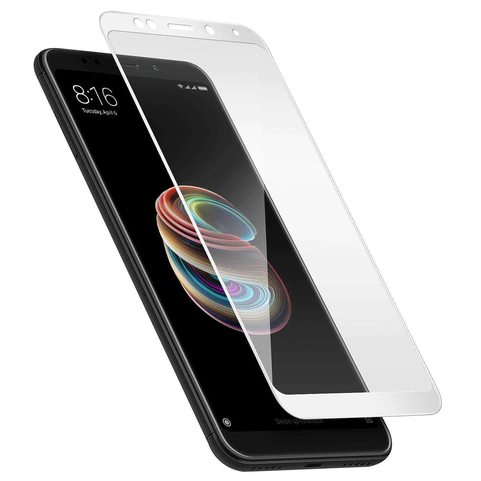 Avizar Film verre trempé Blanc pour Xiaomi Redmi 5 Plus