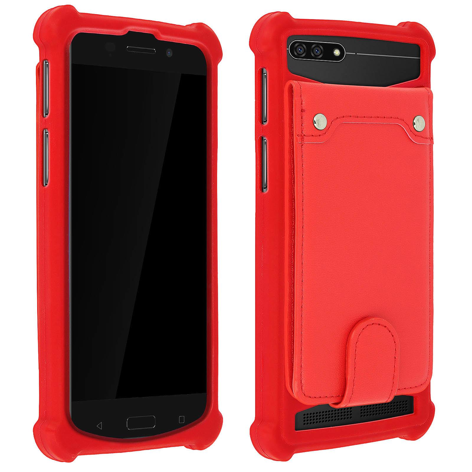 Avizar Coque Rouge pour Compatibles avec Smartphones de 4,7 à 5,0 pouces