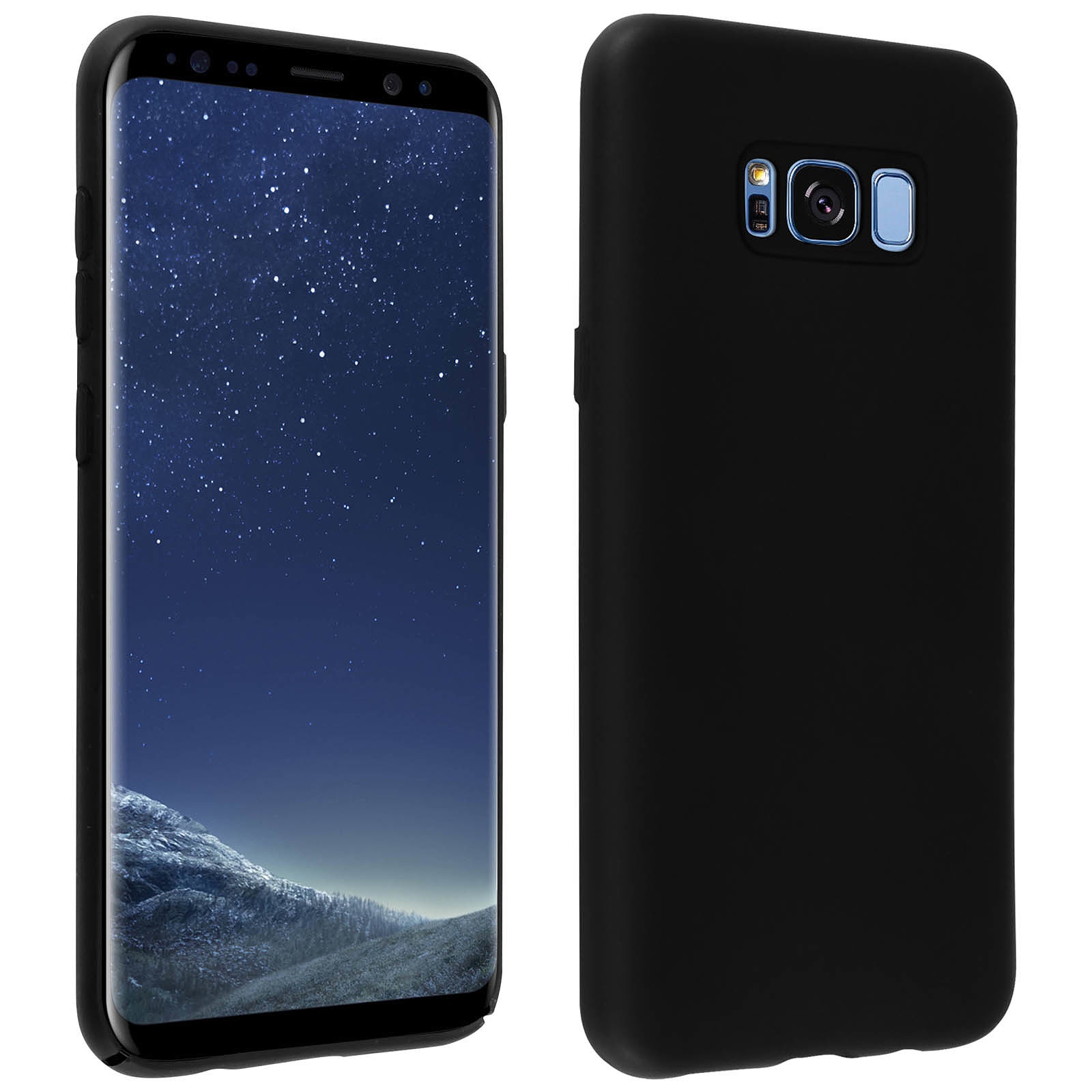 Avizar Coque Noir pour Samsung Galaxy S8 Plus