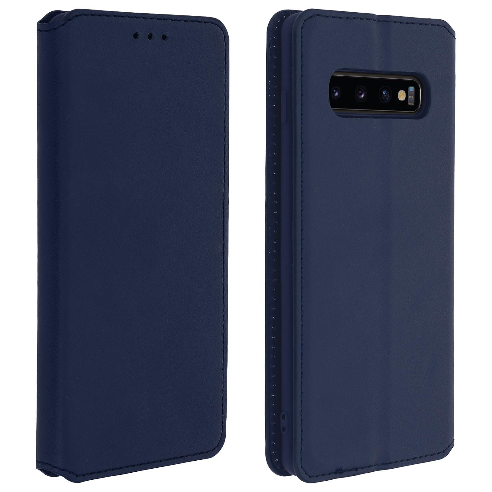 Avizar Etui folio Bleu Nuit pour Samsung Galaxy S10