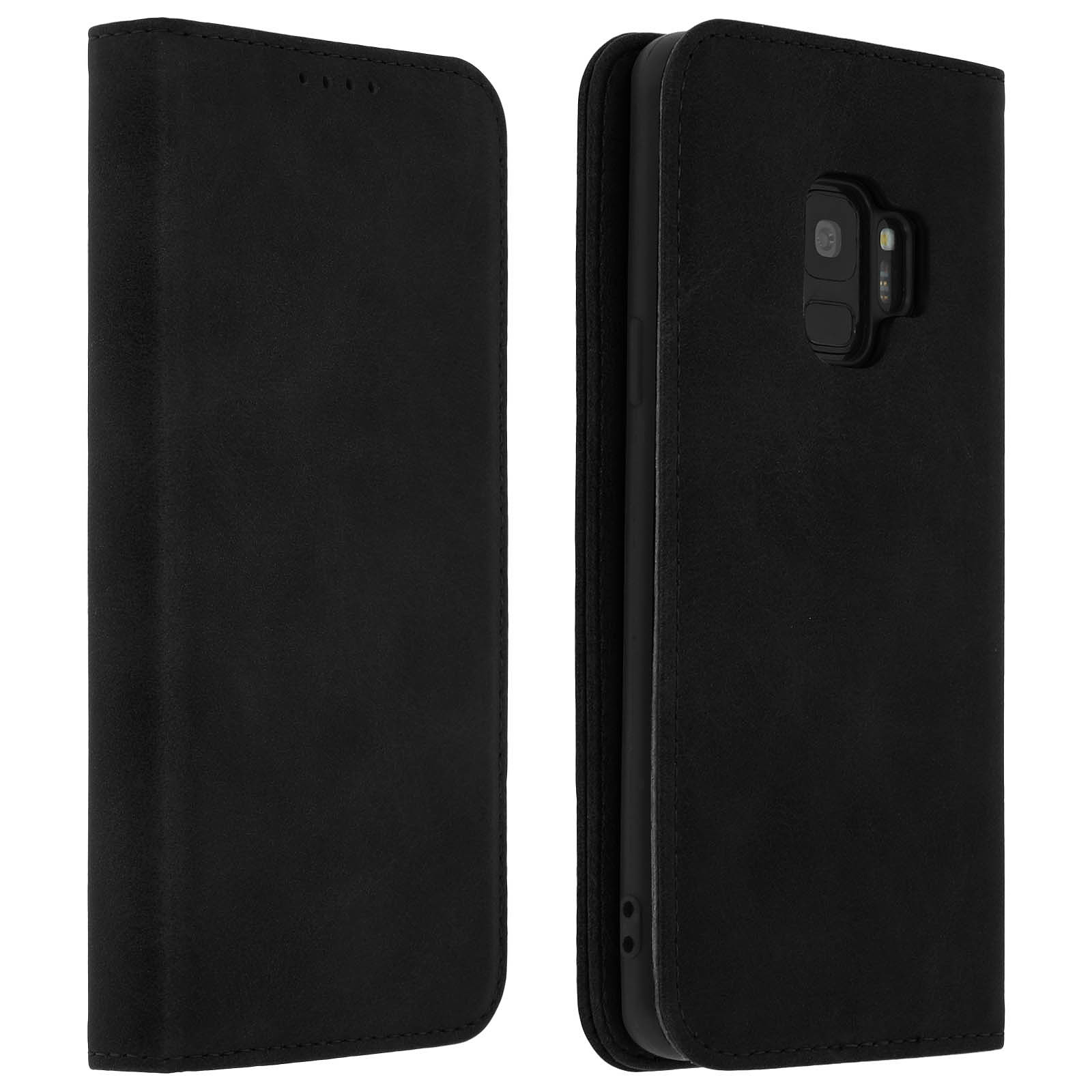 Avizar Etui folio Noir pour Samsung Galaxy S9