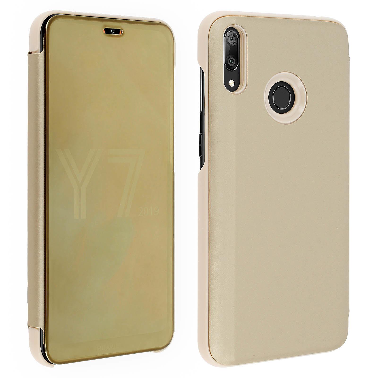 Avizar Etui folio Dorée pour Huawei Y7 2019