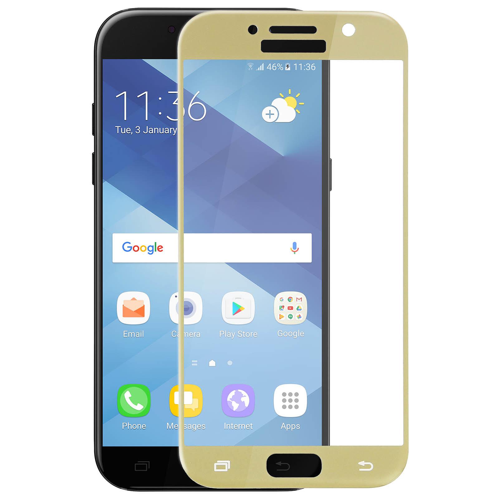 Avizar Film verre trempé Dorée pour Samsung Galaxy A5 2017