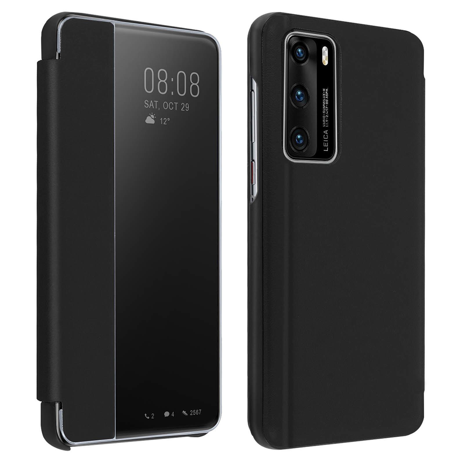 Avizar Etui folio Noir pour Huawei P40