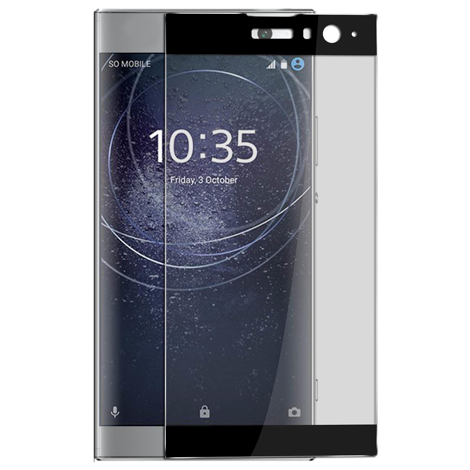 Avizar Film verre trempé Noir pour Sony Xperia XA2