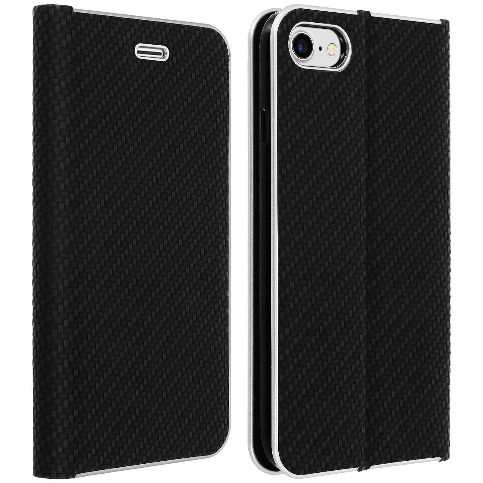 Avizar Etui folio Noir pour Apple iPhone 7 , Apple iPhone 8