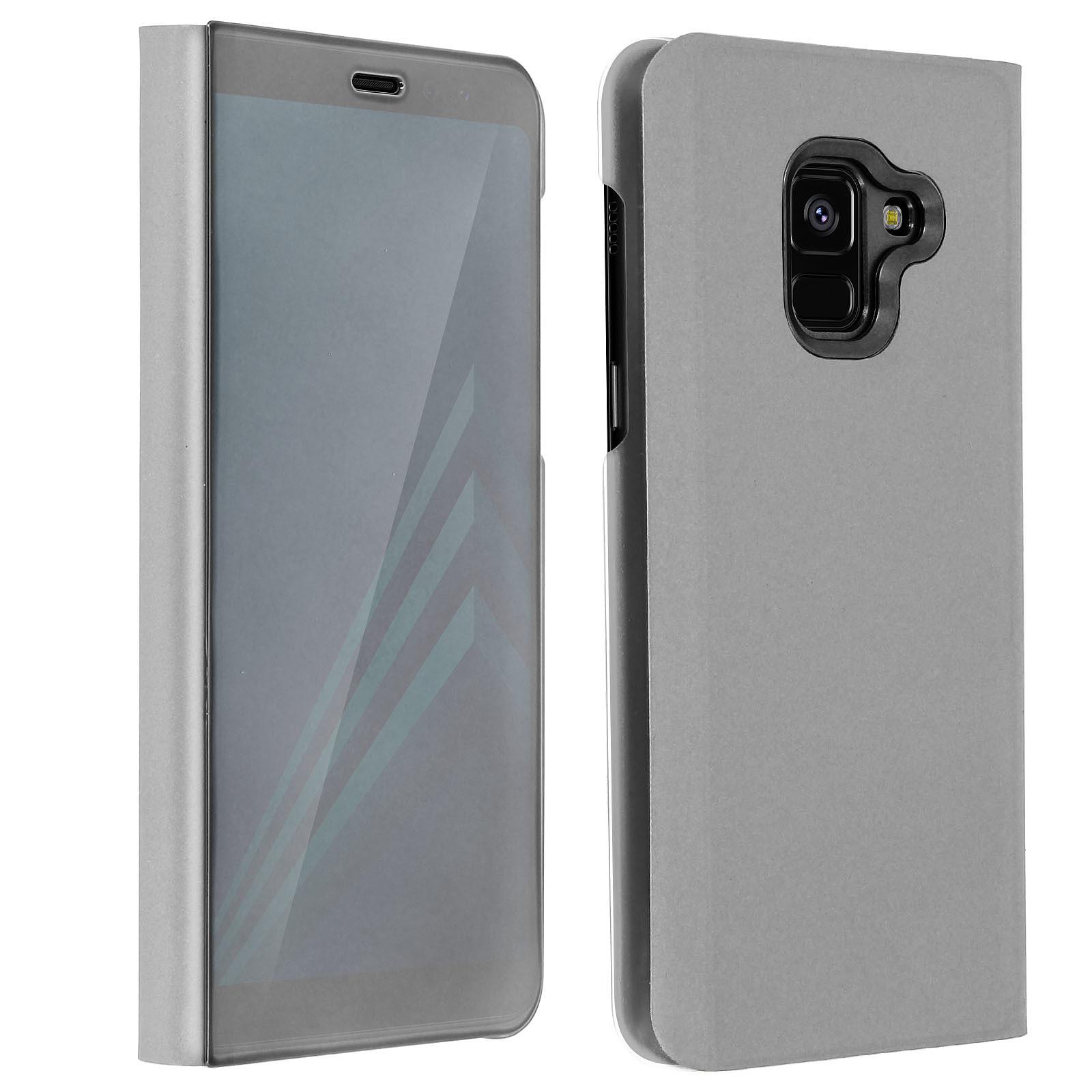 Avizar Etui folio Argent pour Samsung Galaxy A8
