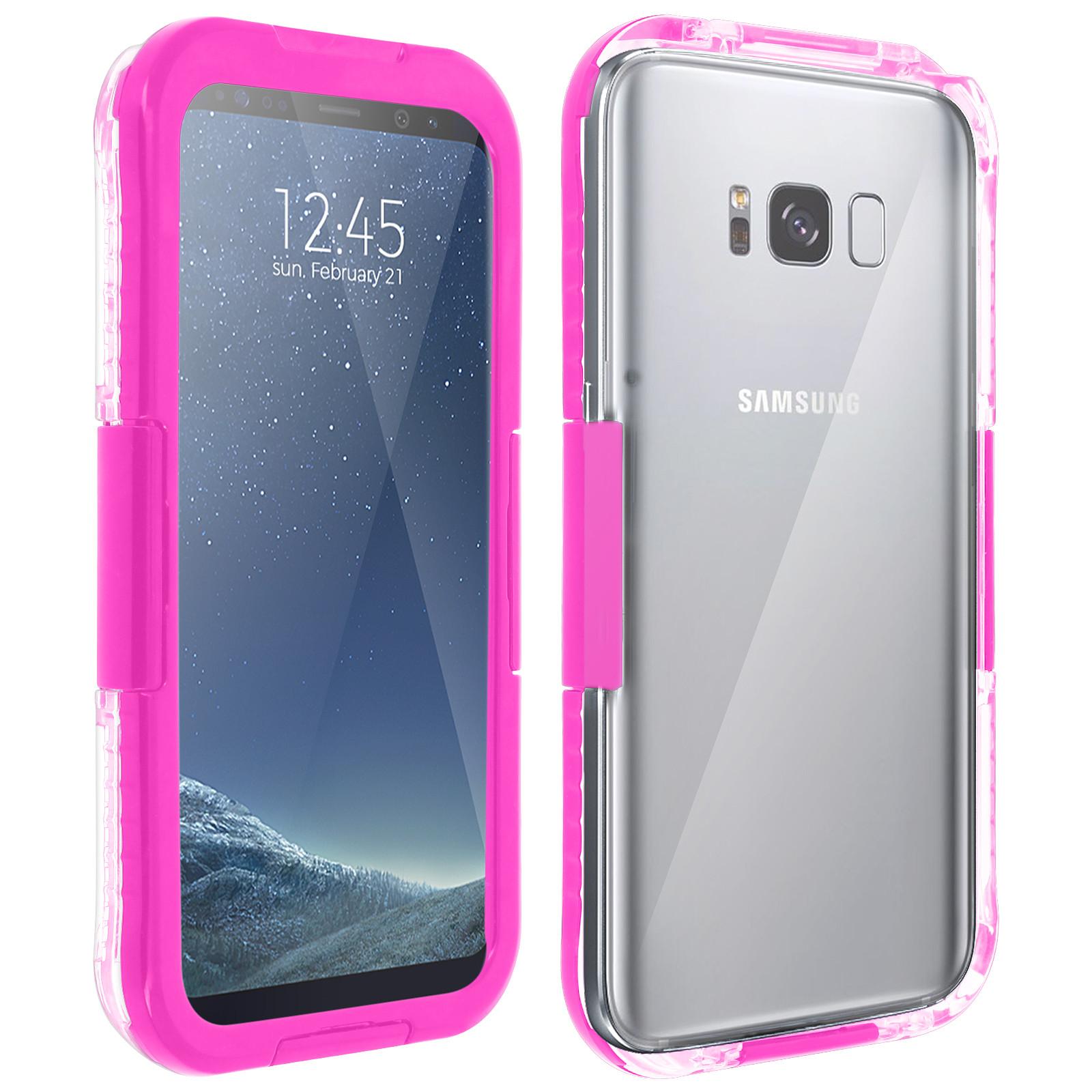 Avizar Coque étanche Rose pour Samsung Galaxy S8
